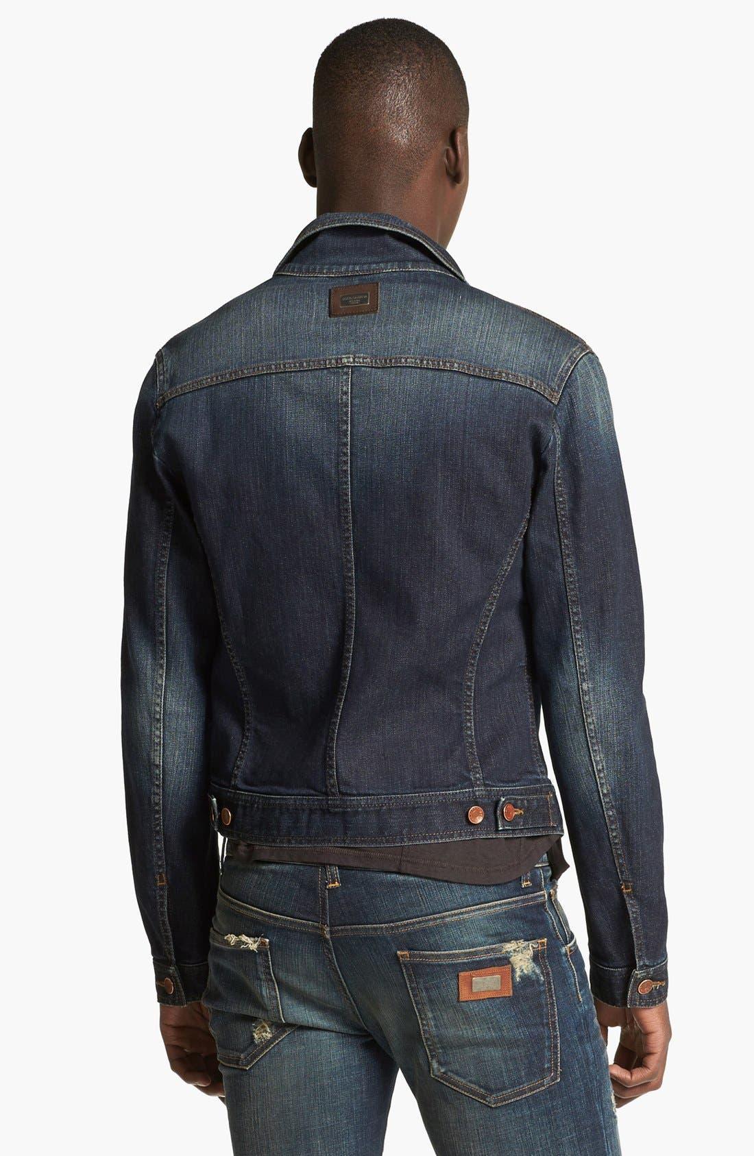 Alternate Image 2  - Dolce&Gabbana Dark Denim Jacket