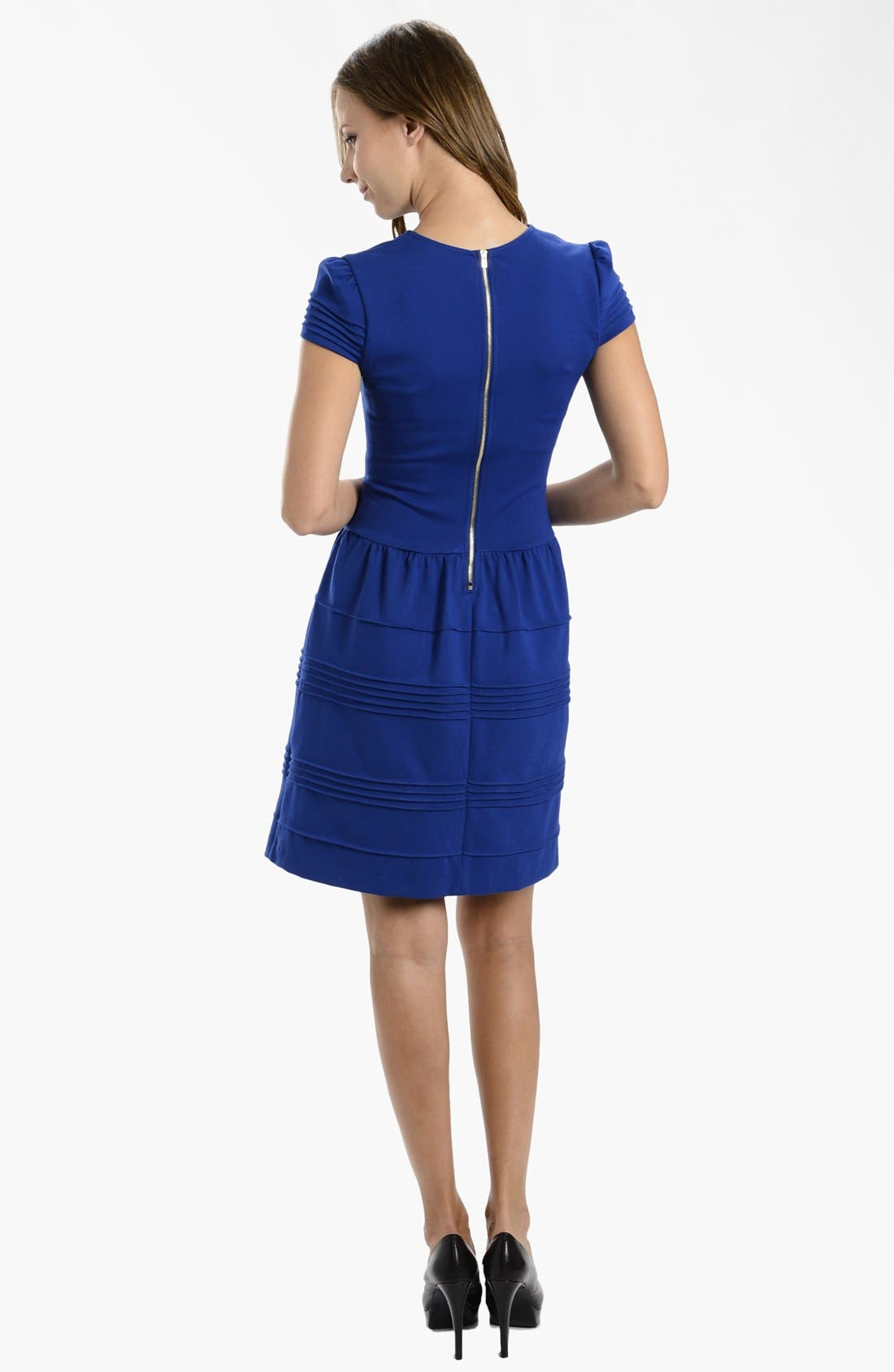 Alternate Image 2  - LABEL by five twelve Ponte Knit Fit & Flare Dress