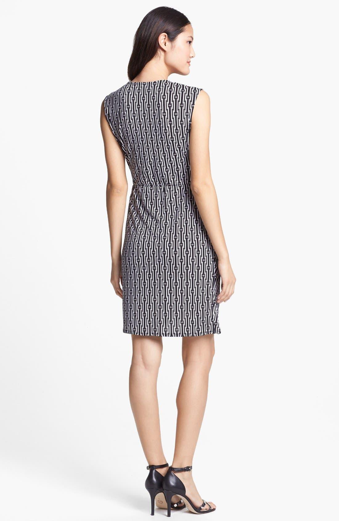 Alternate Image 2  - MICHAEL Michael Kors Sleeveless Faux Wrap Dress (Petite)