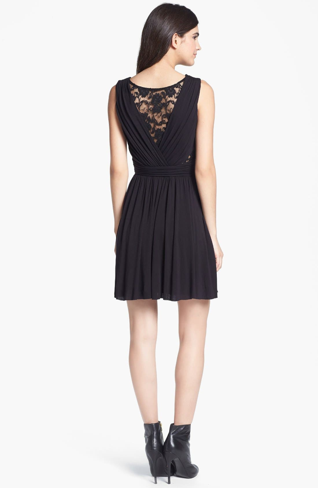 Alternate Image 2  - B44 Dressed by Bailey 44 Lace Inset Jersey Fit & Flare Dress