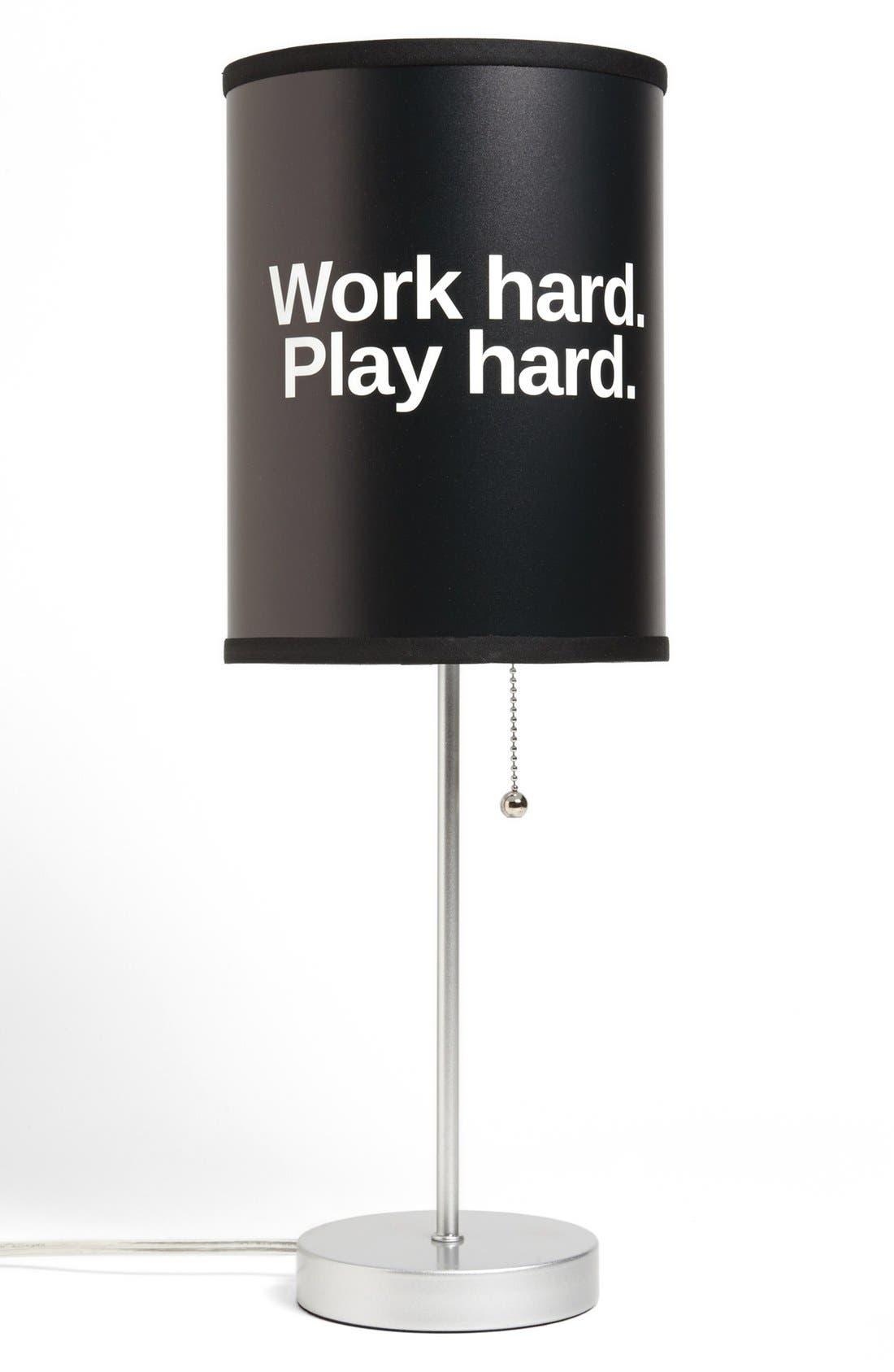 Alternate Image 1 Selected - LAMP-IN-A-BOX 'Work Hard' Table Lamp