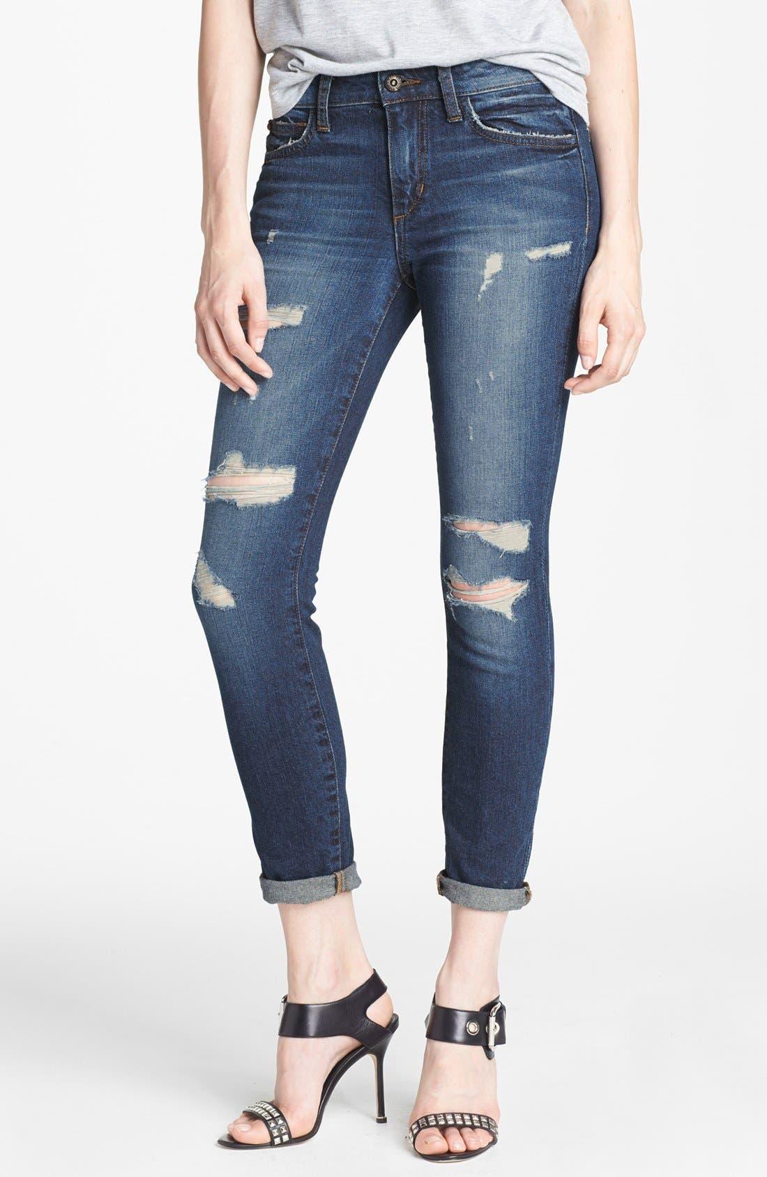 Alternate Image 1  - Joe's Distressed Skinny Ankle Jeans (Tami)