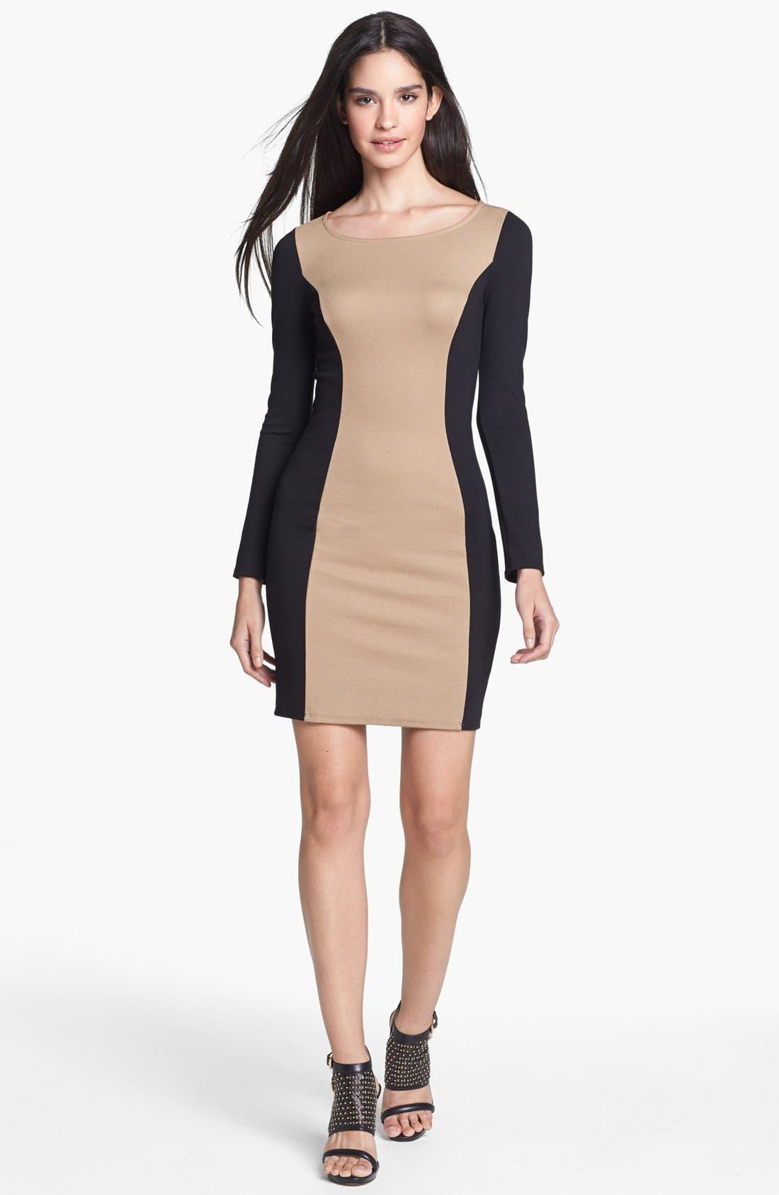Alternate Image 1 Selected - Ella Moss Colorblock Ponte Knit Sheath Dress