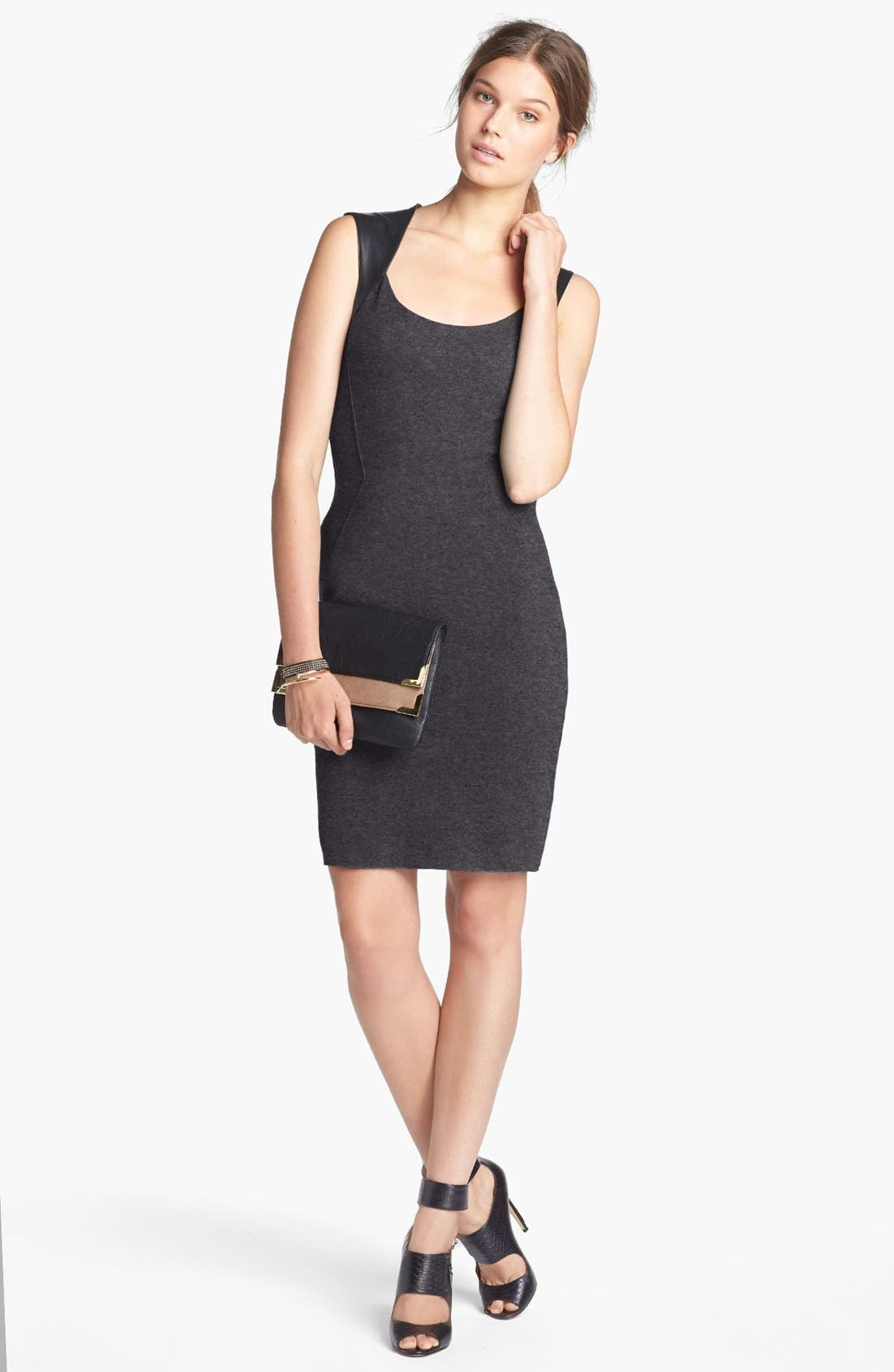 Alternate Image 1 Selected - Bailey 44 Faux Leather Detail Sheath Dress