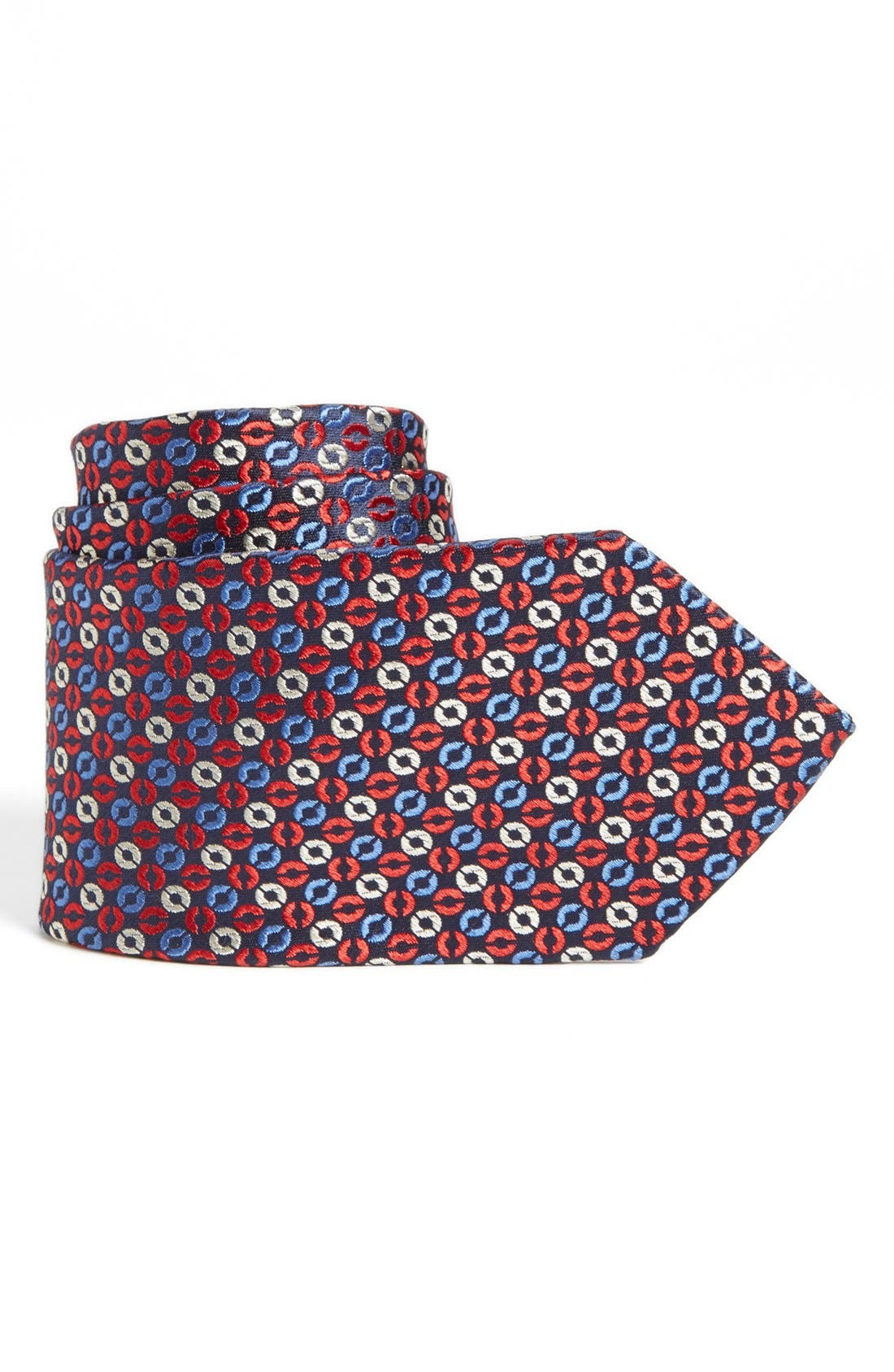 Main Image - Joseph Abboud Circle Pattern Woven Silk Tie (Boys)