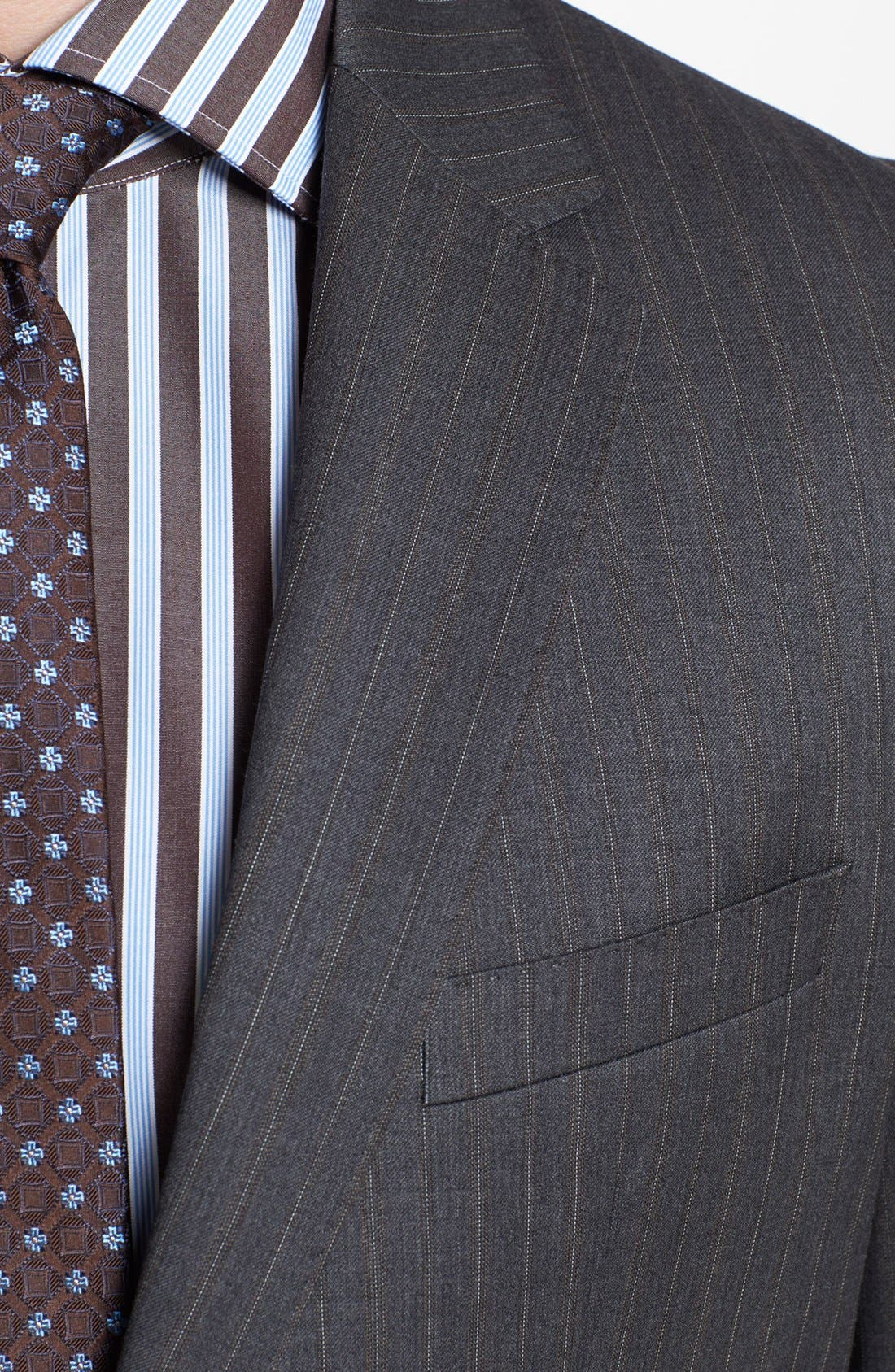 Alternate Image 2  - BOSS HUGO BOSS 'James/Sharp' Trim Fit Stripe Suit
