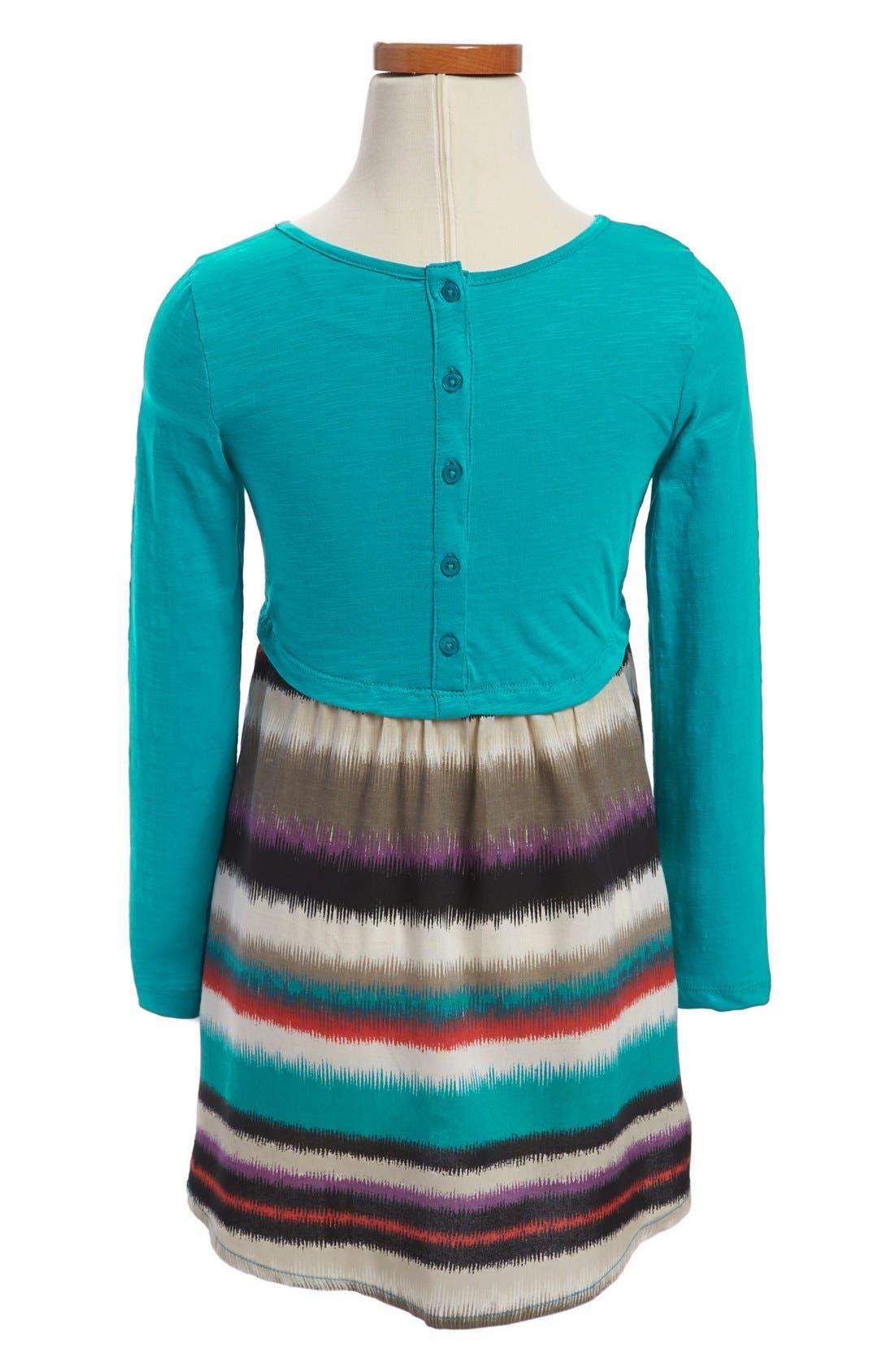 Alternate Image 2  - Roxy Striped Skirt Dress (Toddler Girls)