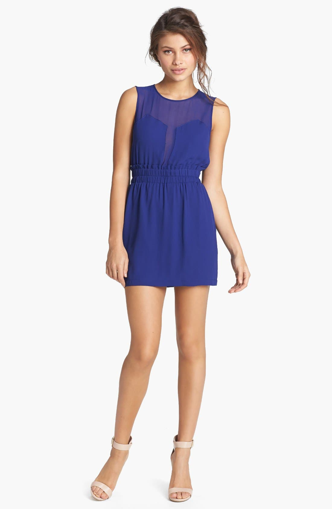 Alternate Image 1 Selected - BCBGMAXAZRIA Illusion Cutout Fit & Flare Dress