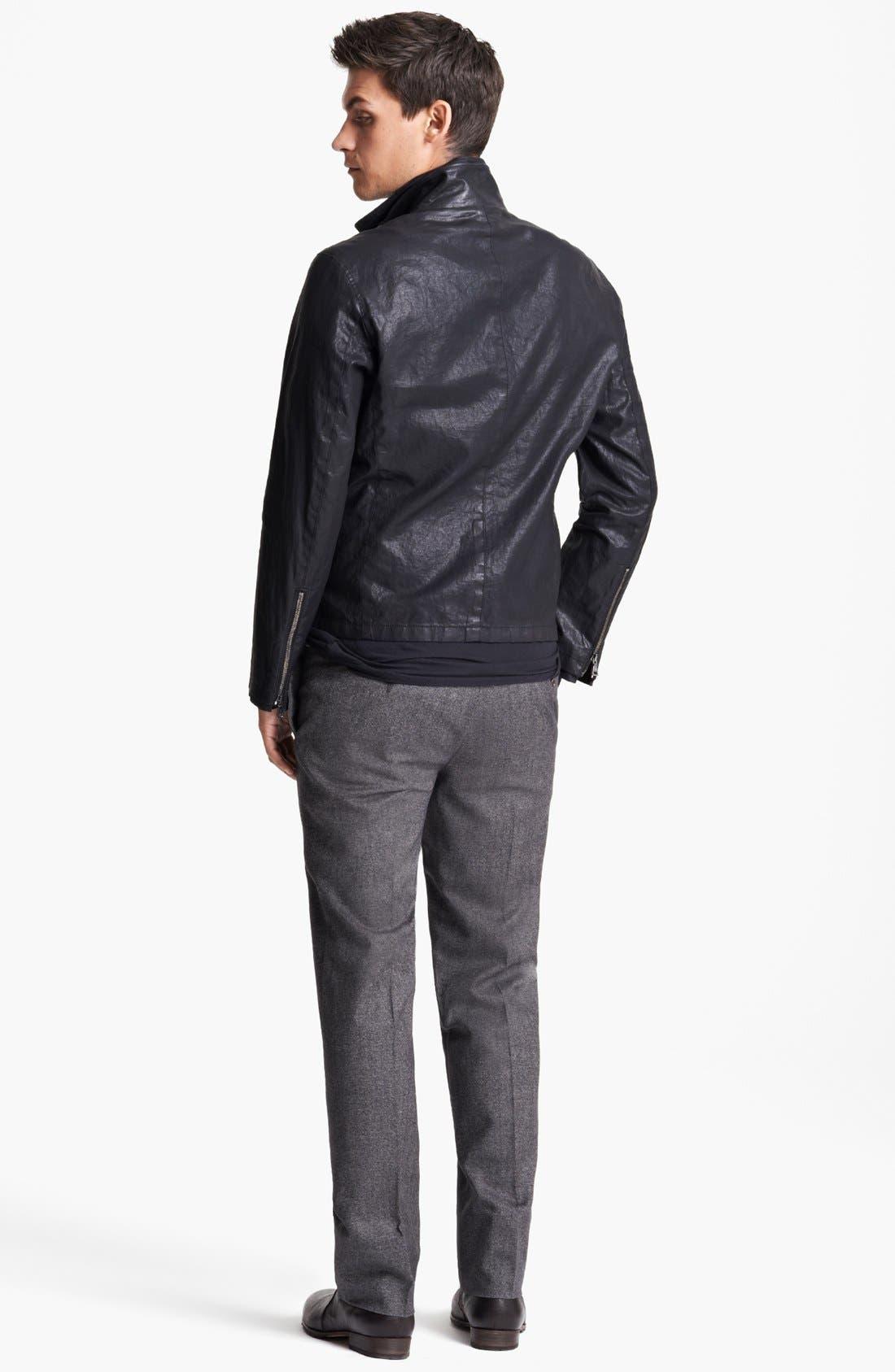 Alternate Image 5  - John Varvatos Collection Resin Coated Linen Jacket