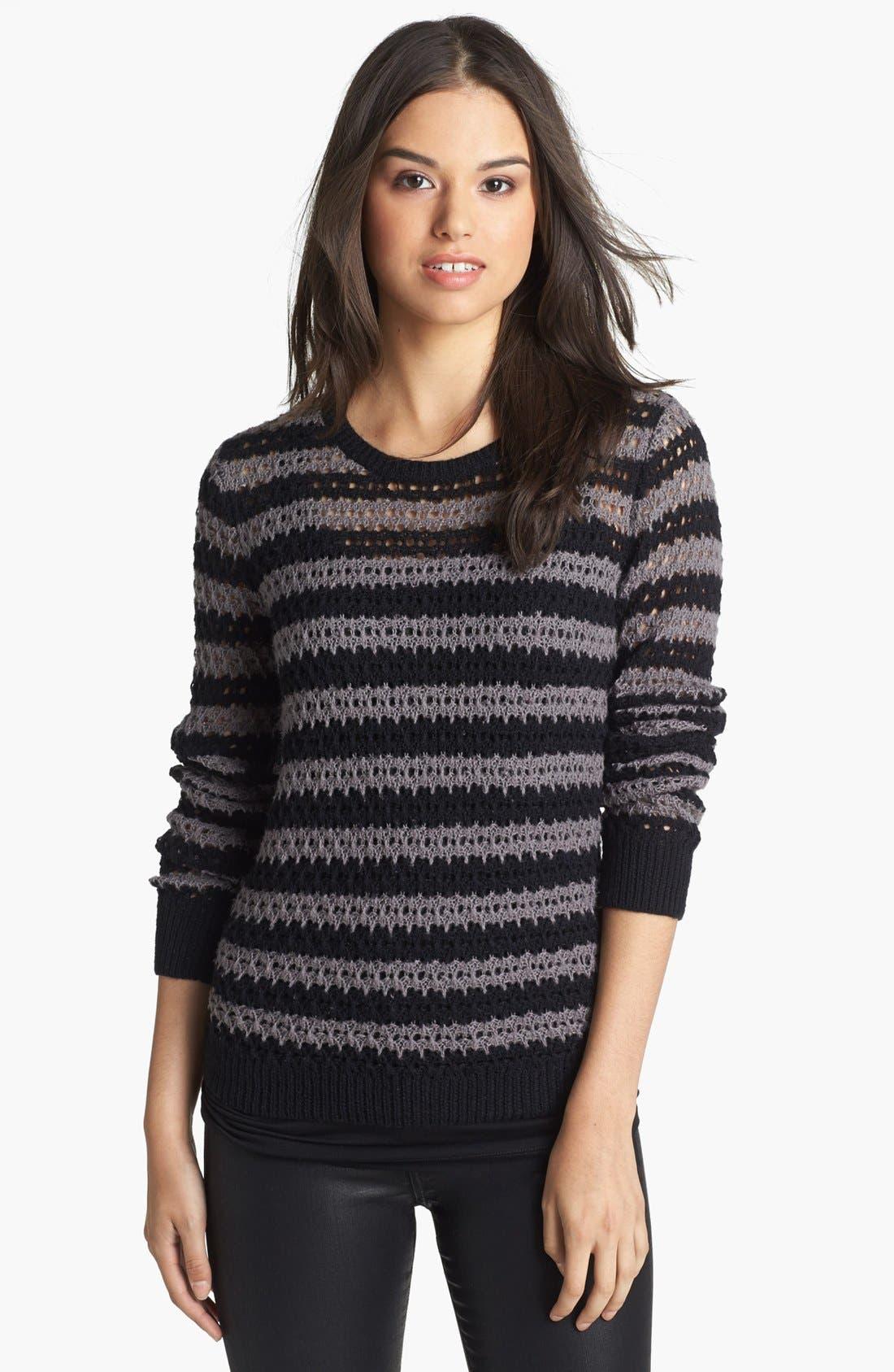Main Image - Caslon® Open Knit Stripe Sweater
