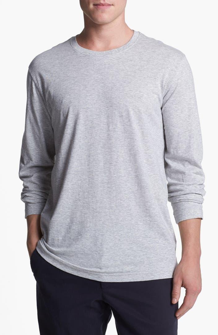 Daniel buchler peruvian pima cotton long sleeve crewneck t for Peruvian cotton t shirts