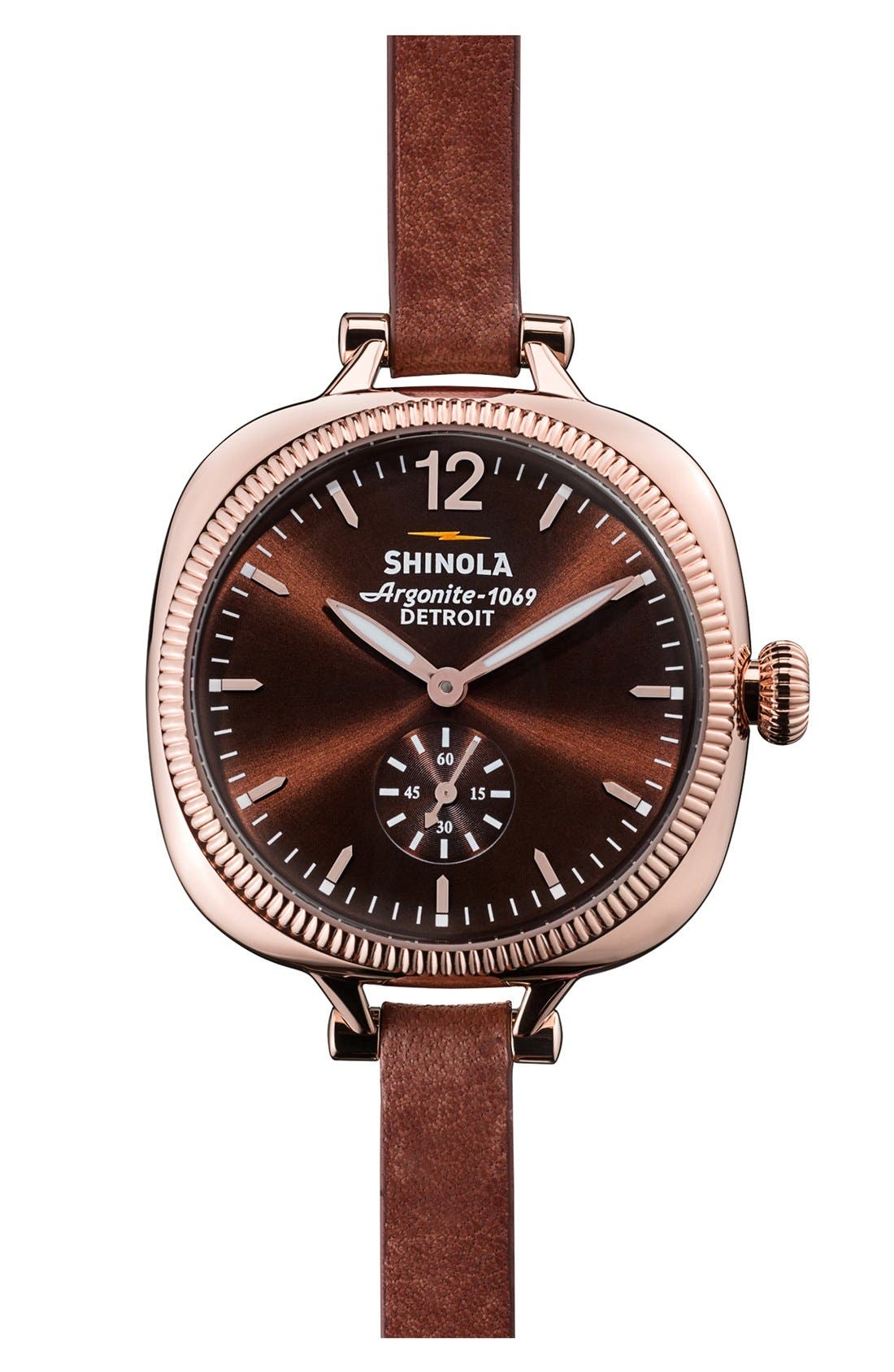 Alternate Image 1 Selected - Shinola The Gomelsky Leather Strap Watch, 36mm