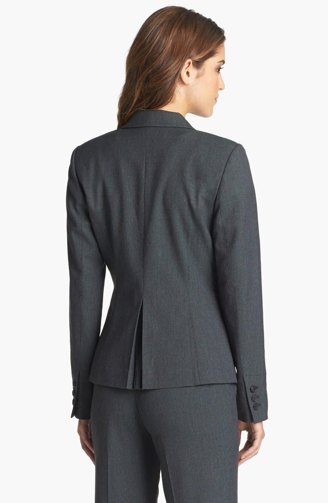 Alternate Image 2  - Halogen® 'Fox Hunt' Suit Jacket (Regular & Petite)