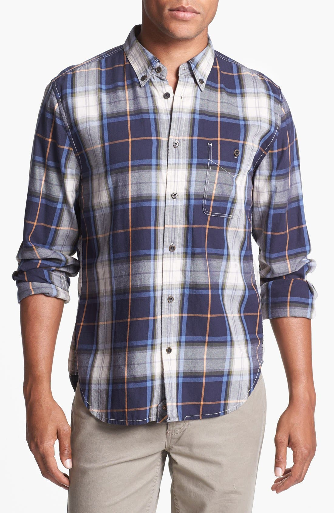 Alternate Image 1 Selected - 7 For All Mankind® Plaid Shirt