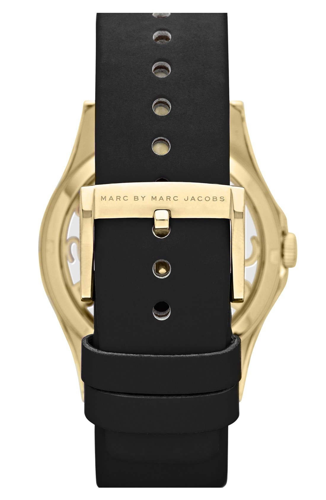 Alternate Image 2  - MARC BY MARC JACOBS 'Henry Skeleton' Watch, 40mm