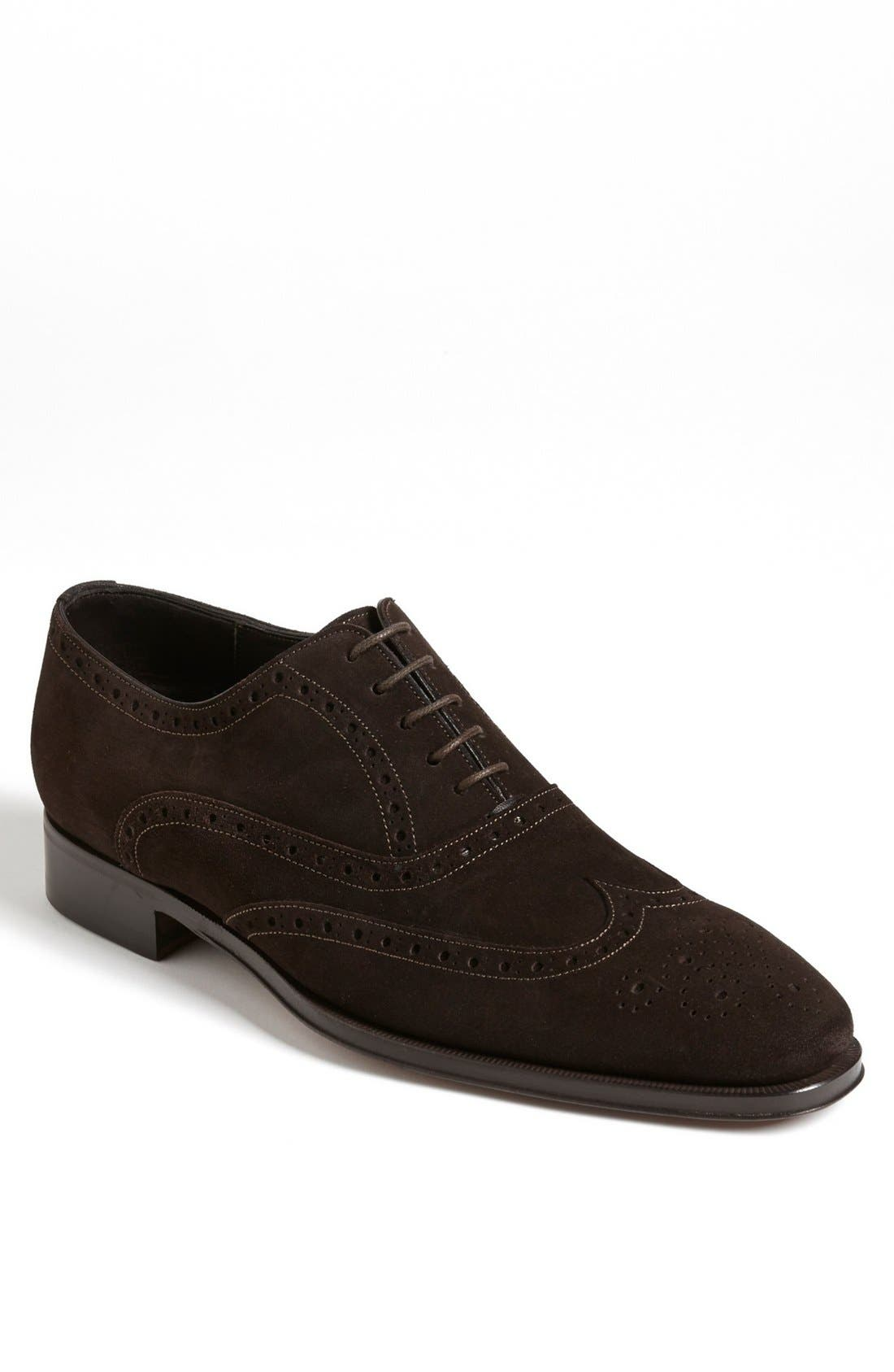 Alternate Image 1 Selected - Canali Suede Wingtip (Men)