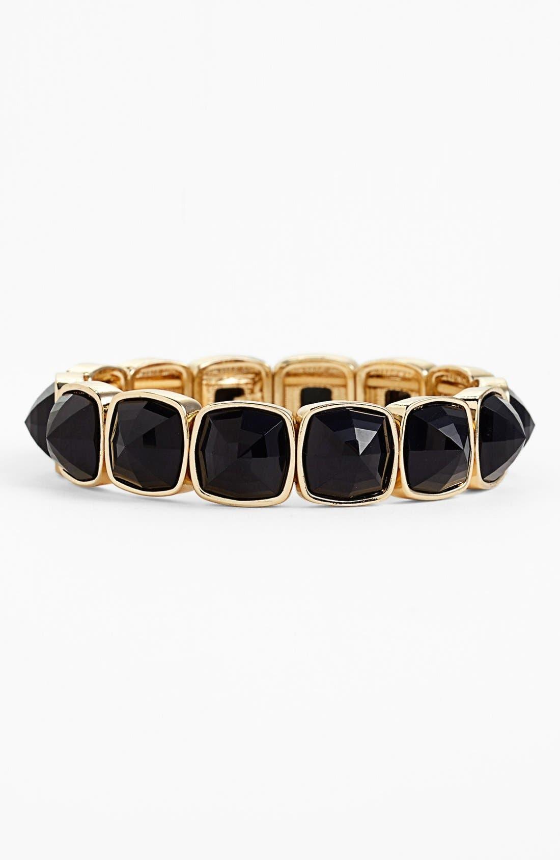 Main Image - Anne Klein Cushion Cut Stone Stretch Bracelet