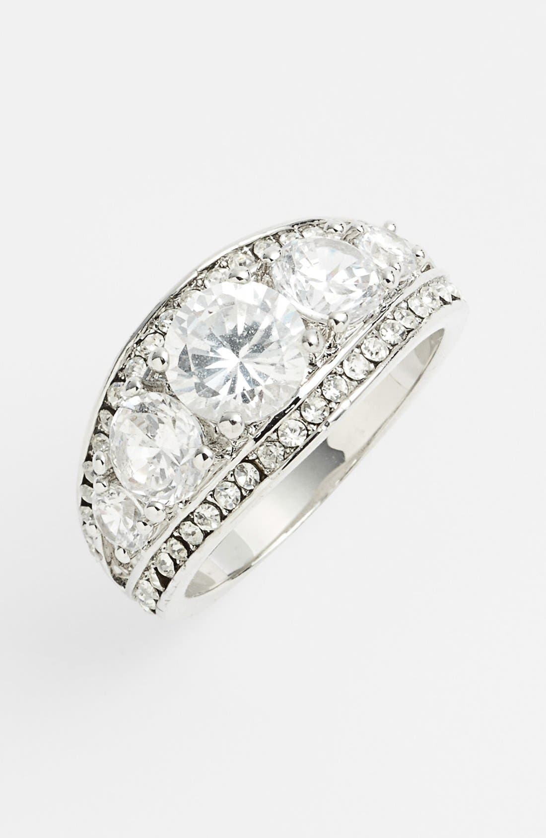 Alternate Image 1 Selected - Ariella Collection Pavé Cocktail Ring