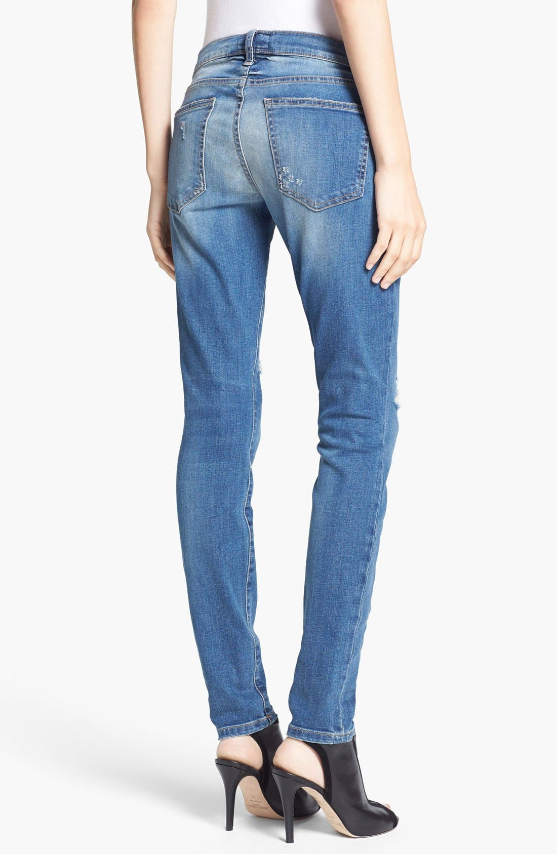 Alternate Image 2  - Current/Elliott 'The Ankle Skinny' Jeans (Borough Destroy)