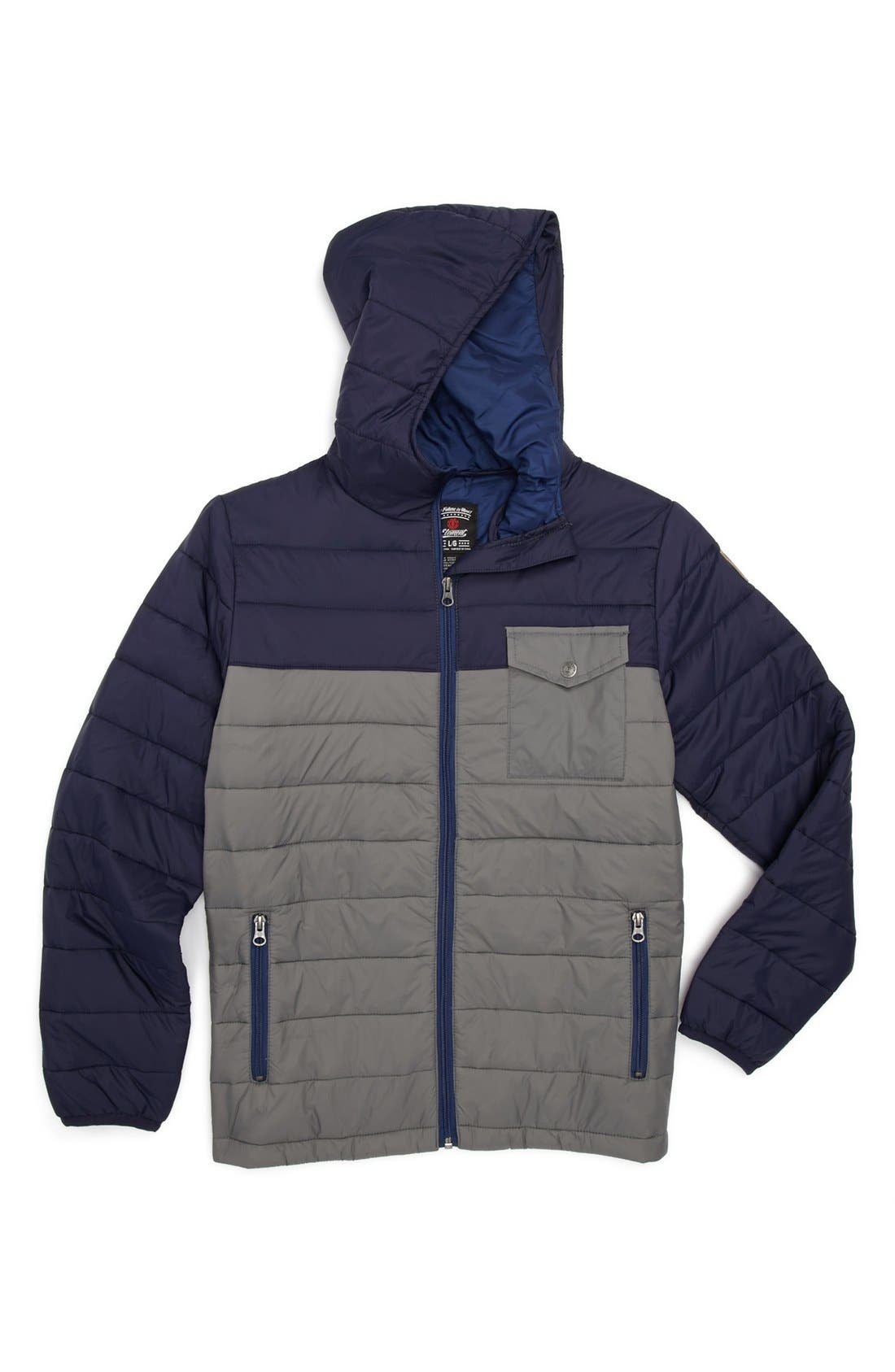 Alternate Image 1 Selected - Element 'Foxnum' Quilted Jacket (Big Boys)