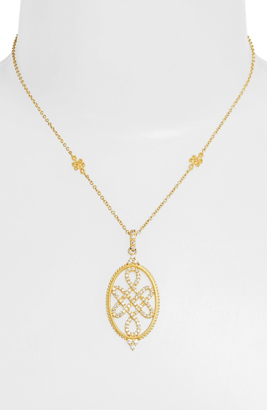 Main Image - FREIDA ROTHMAN 'Gramercy' Love Knot Pendant Necklace