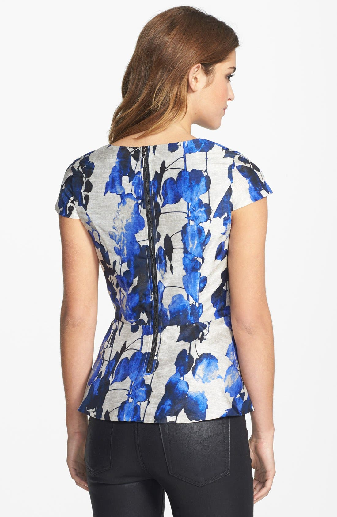 Alternate Image 2  - kensie Print Peplum Top