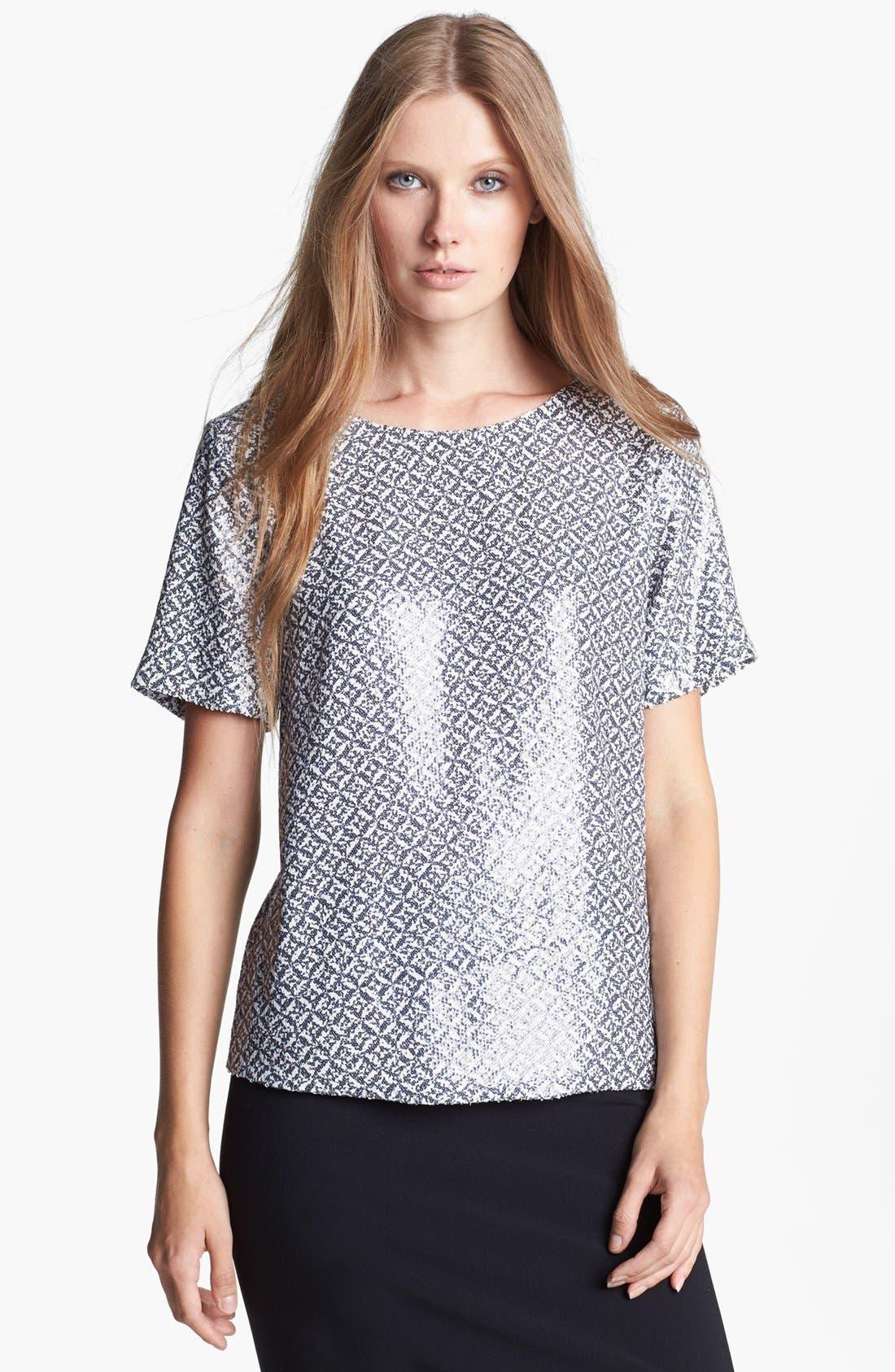 Alternate Image 1 Selected - Joie 'Reya' Sequin Silk Top