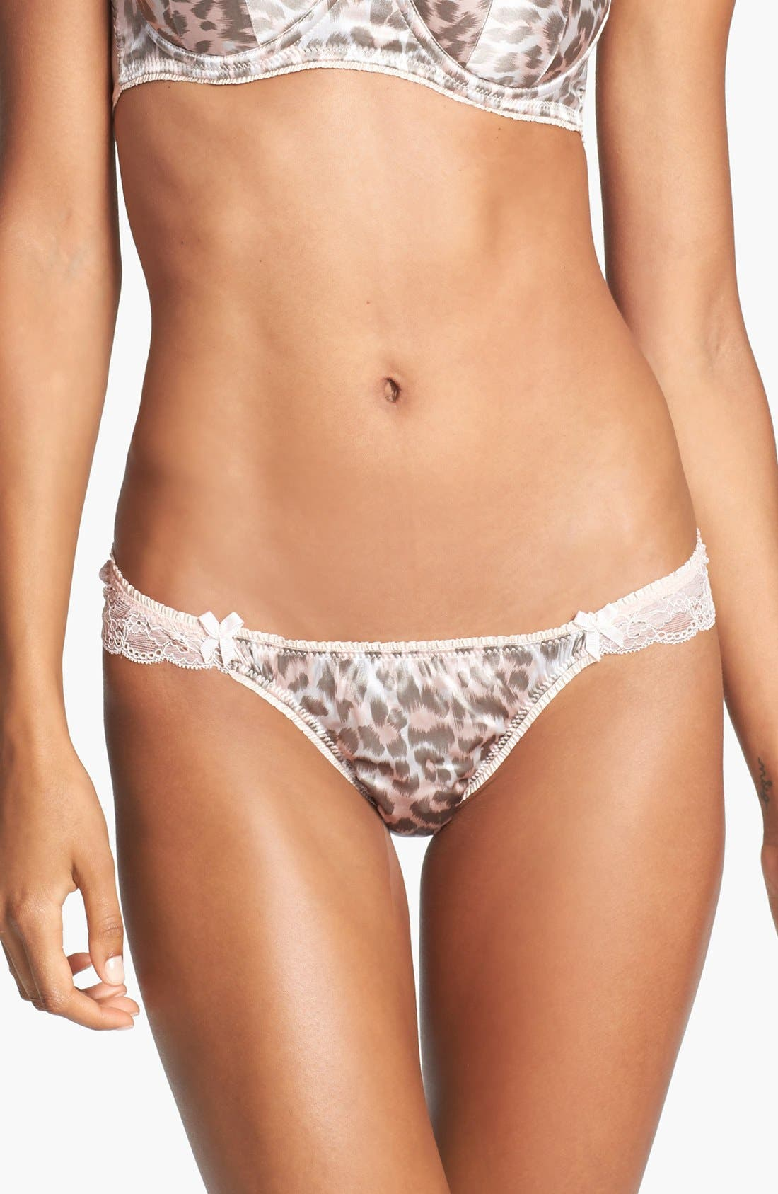 Main Image - Mimi Holliday 'Frost Leopard' Bow Back Thong