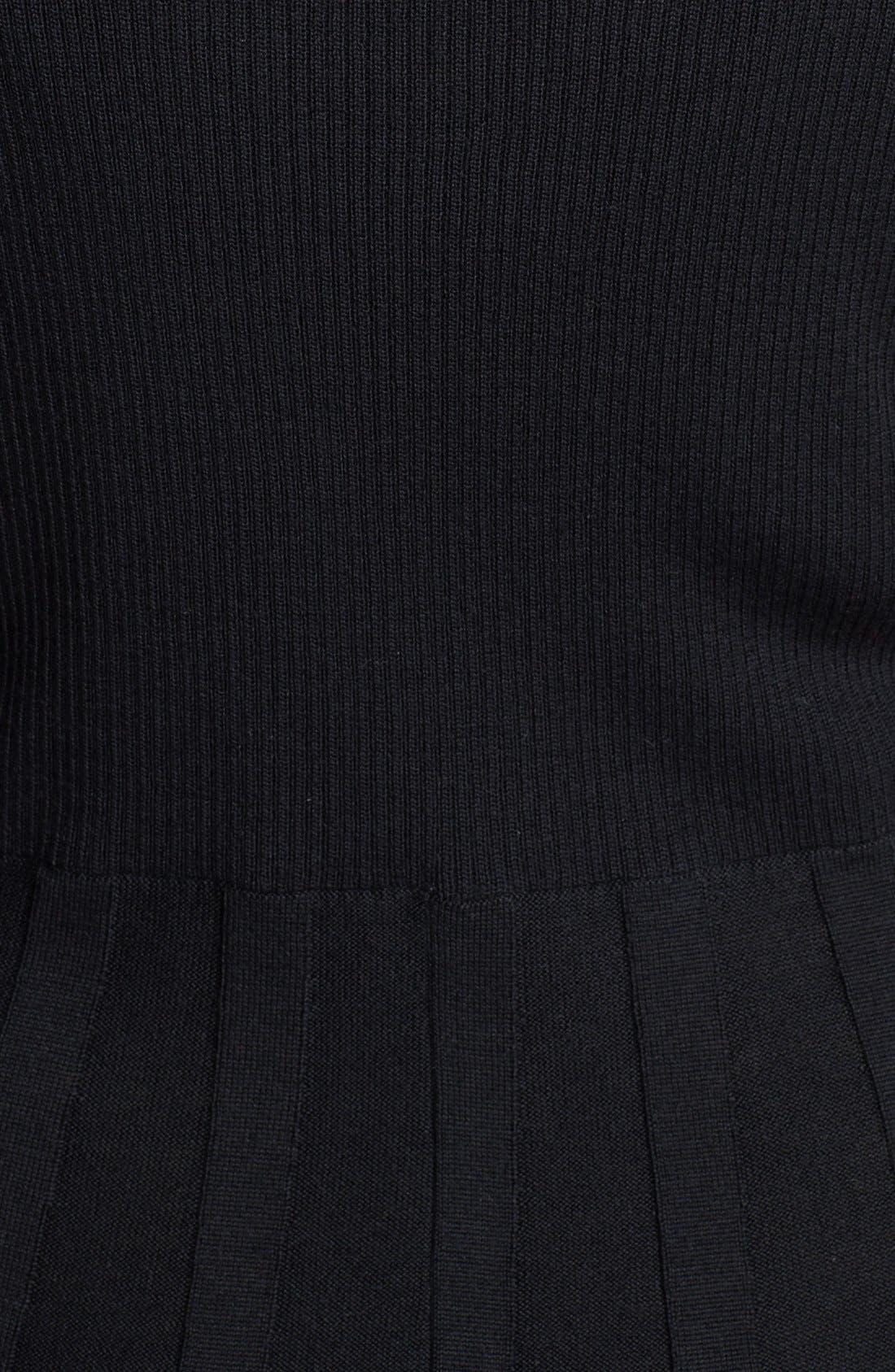 Alternate Image 3  - Calvin Klein Fit & Flare Sweater Dress (Plus Size)