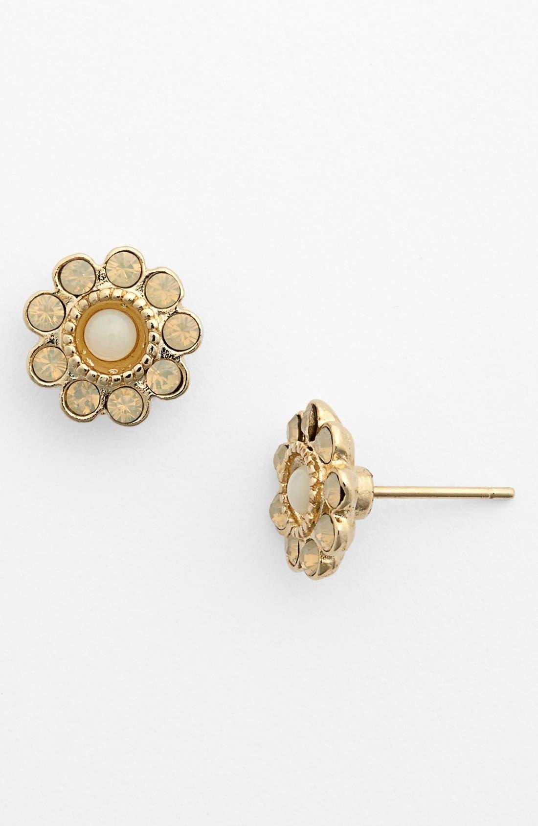 Alternate Image 1 Selected - Rachel Flower Stud Earrings (Juniors)