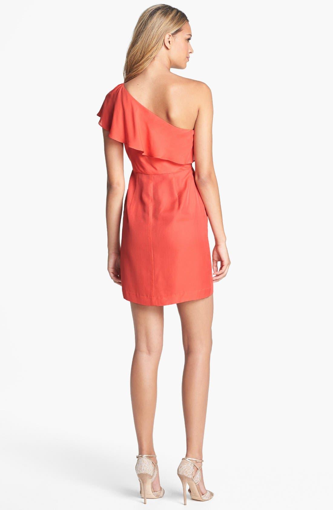 Alternate Image 2  - Jenny Yoo 'Lulu' Ruffled One-Shoulder Sheath Dress (Online Only)
