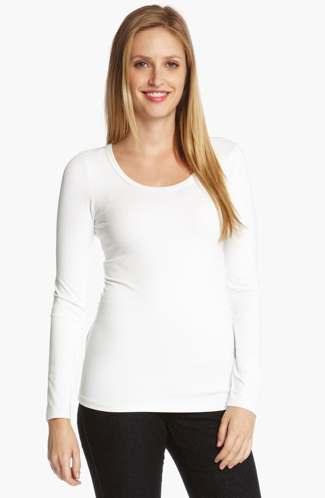 Alternate Image 1 Selected - Karen Kane Supersoft Long Sleeve Tee