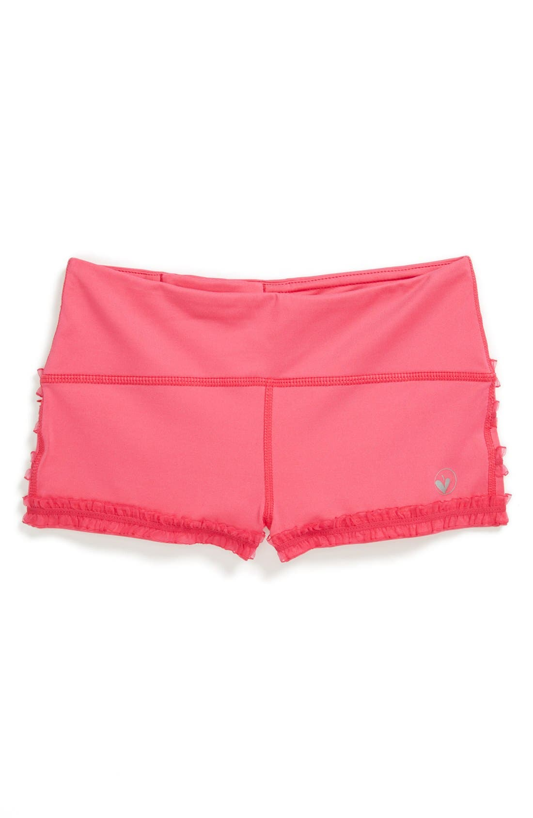 Alternate Image 1 Selected - Limeapple 'Dance' Ruffled Mini Shorts (Big Girls)