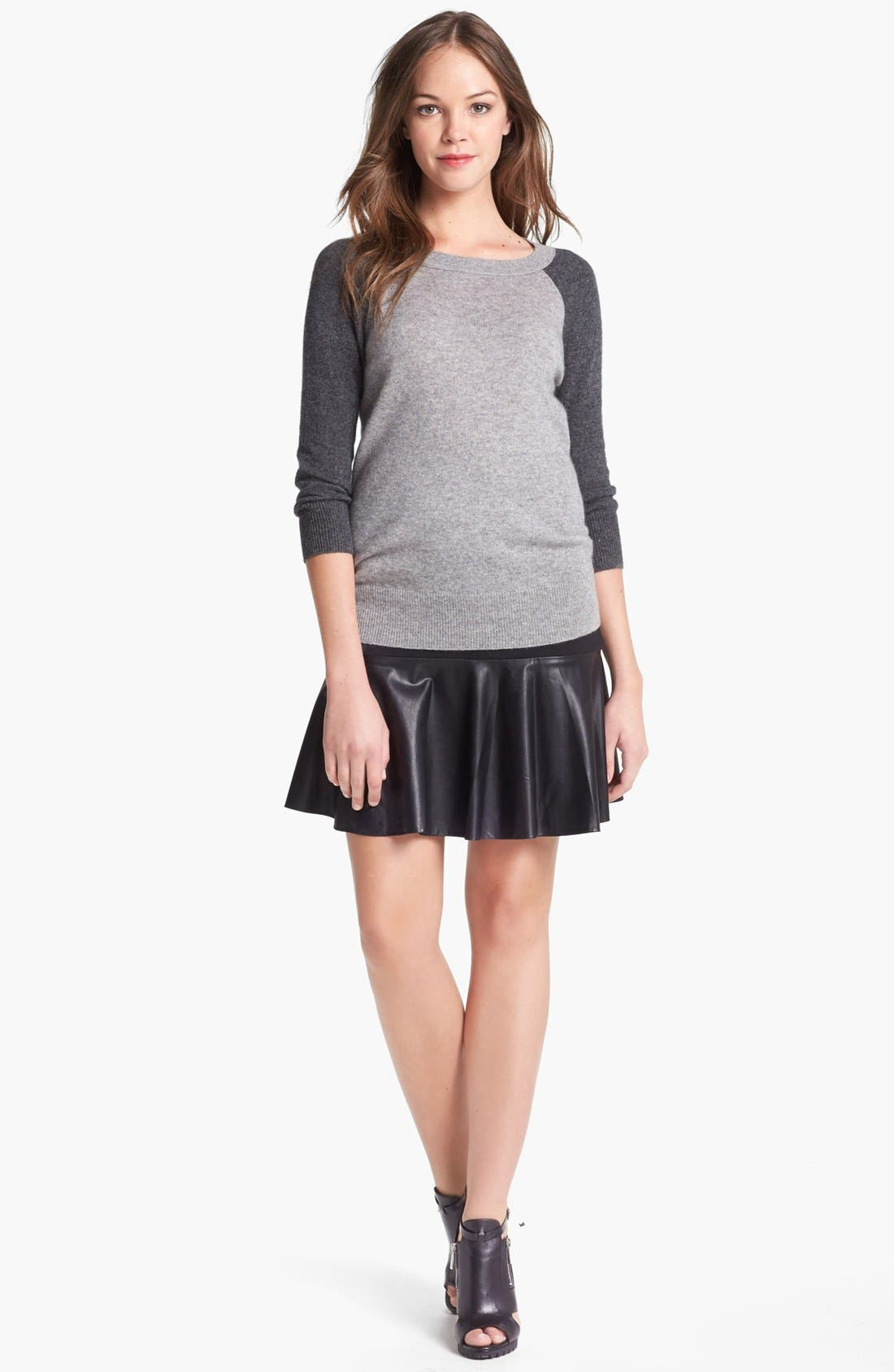 Alternate Image 1 Selected - Halogen® Colorblock Cashmere Sweater