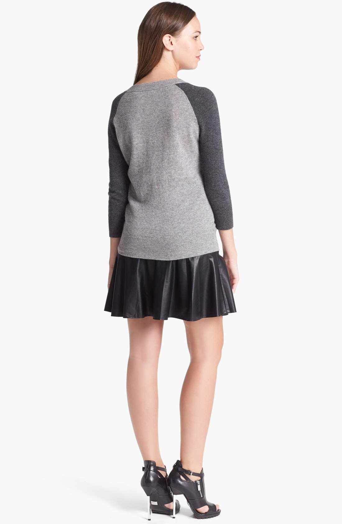 Alternate Image 2  - Halogen® Colorblock Cashmere Sweater