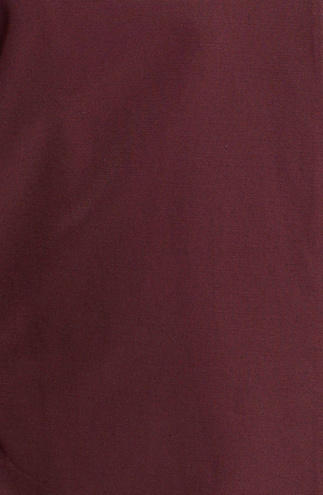 Alternate Image 3  - Via Spiga Asymmetrical Faux Leather Trim Raincoat (Online Only)