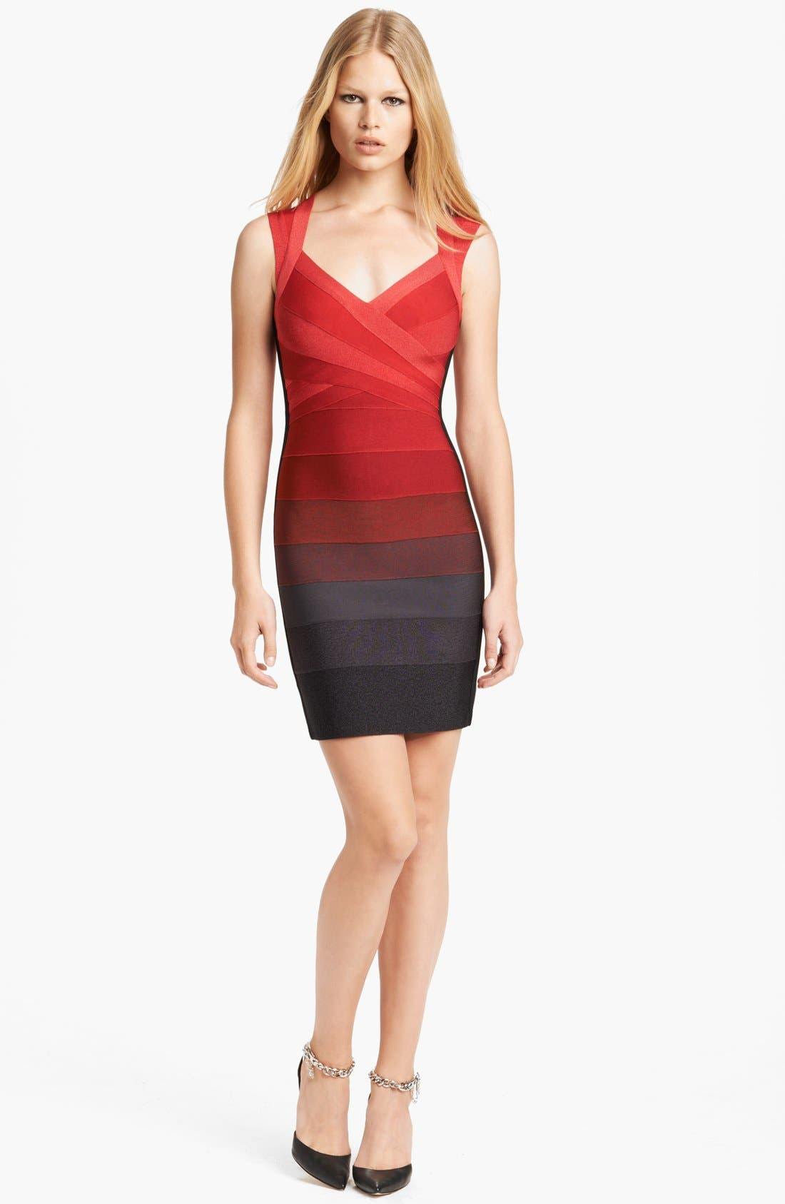 Main Image - Herve Leger Ombré Bandage Dress