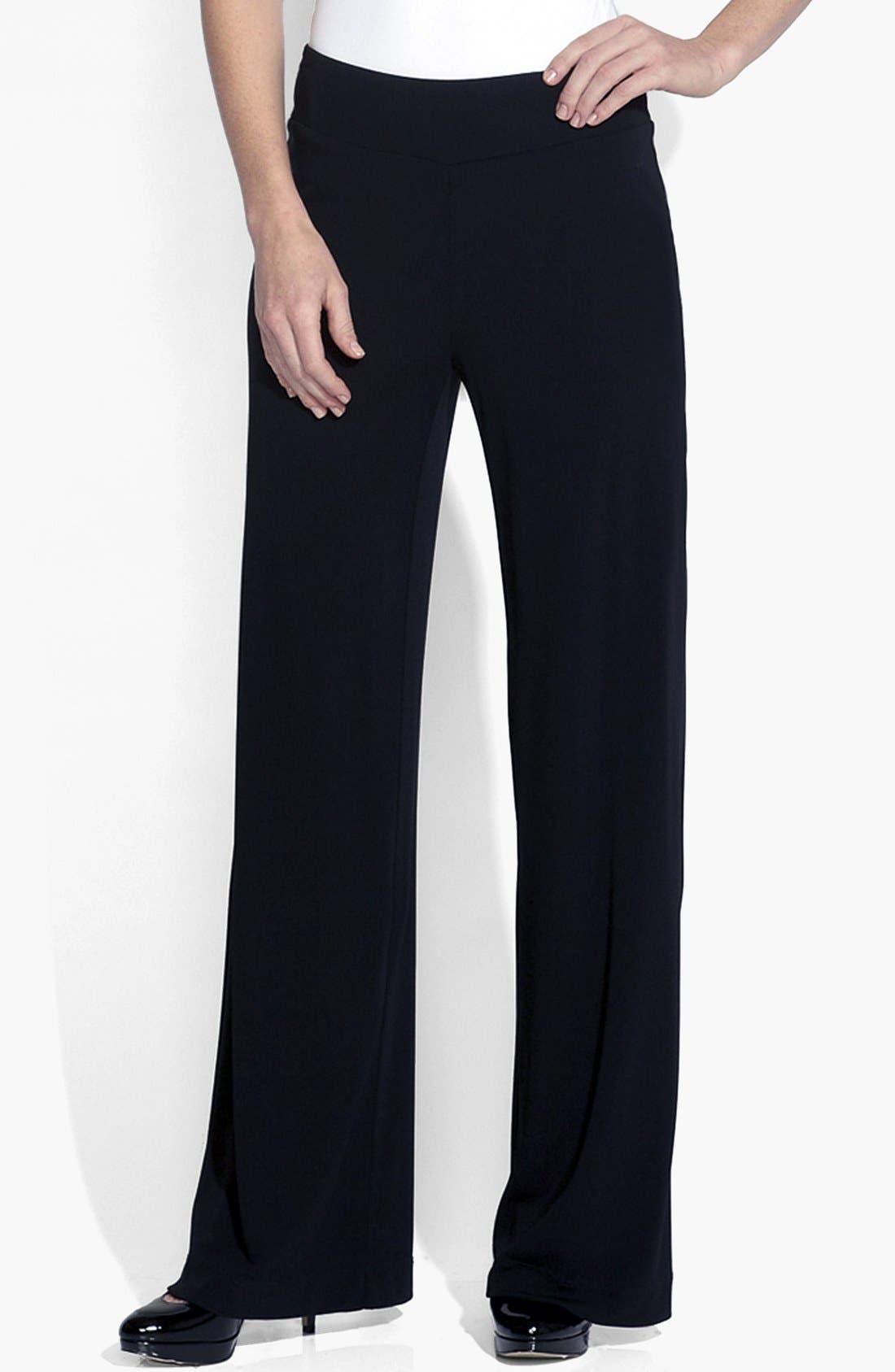 Main Image - Karen Kane Wide Leg Matte Jersey Pants
