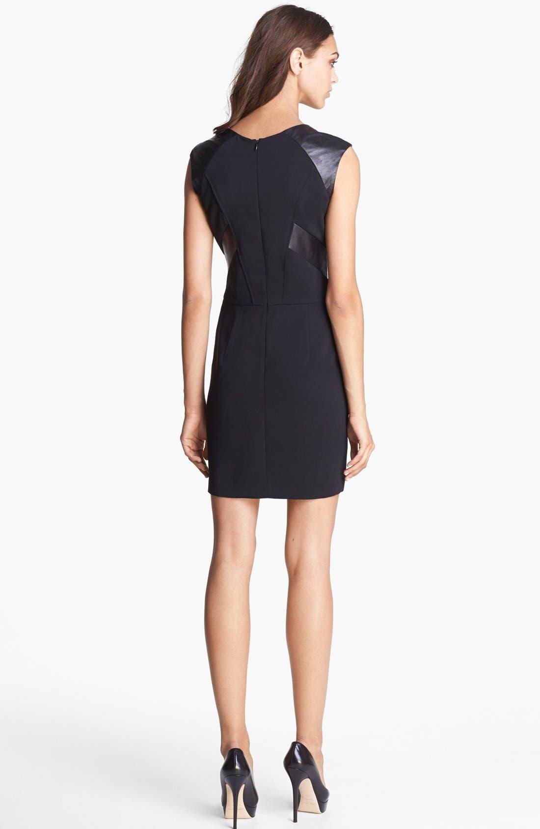Alternate Image 2  - The Kooples Leather Detail Dress