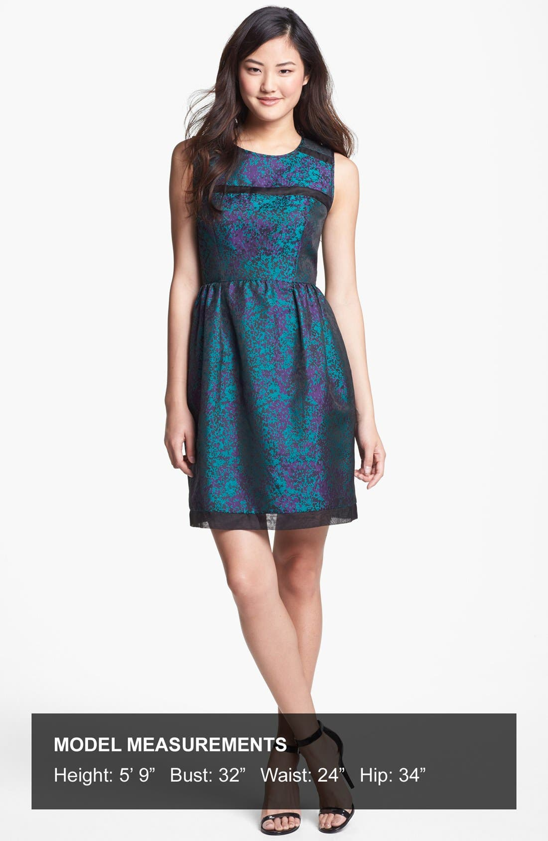 Alternate Image 4  - Ivy & Blu Brocade Fit & Flare Dress