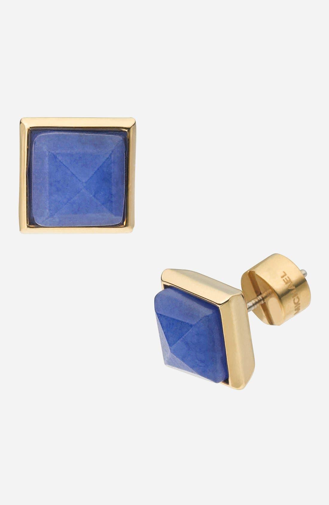 Alternate Image 1 Selected - Michael Kors 'Glam Rock' Stone Pyramid Stud Earrings