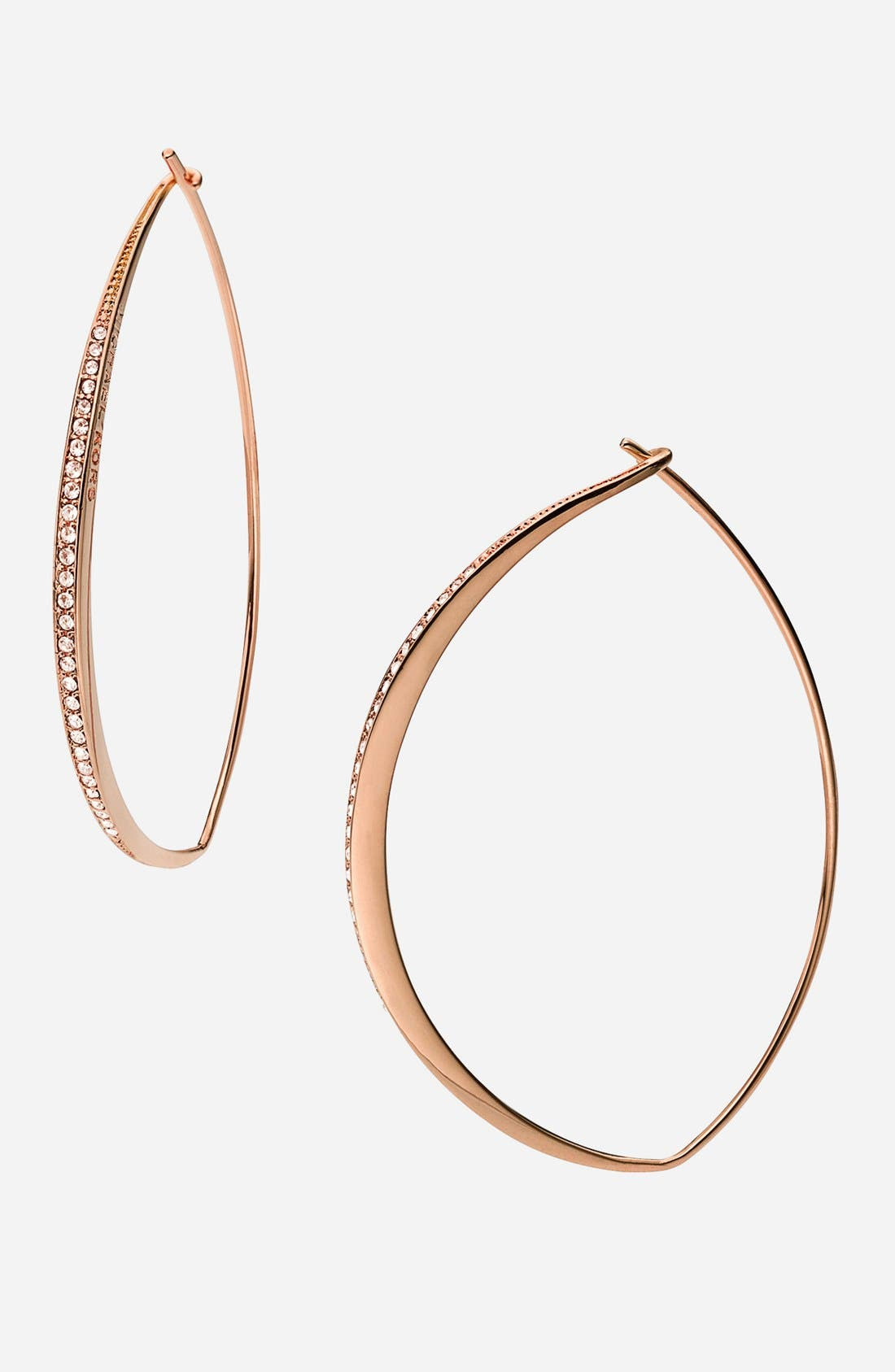 Alternate Image 1 Selected - Michael Kors 'Brilliance - Whisper' Hoop Earrings