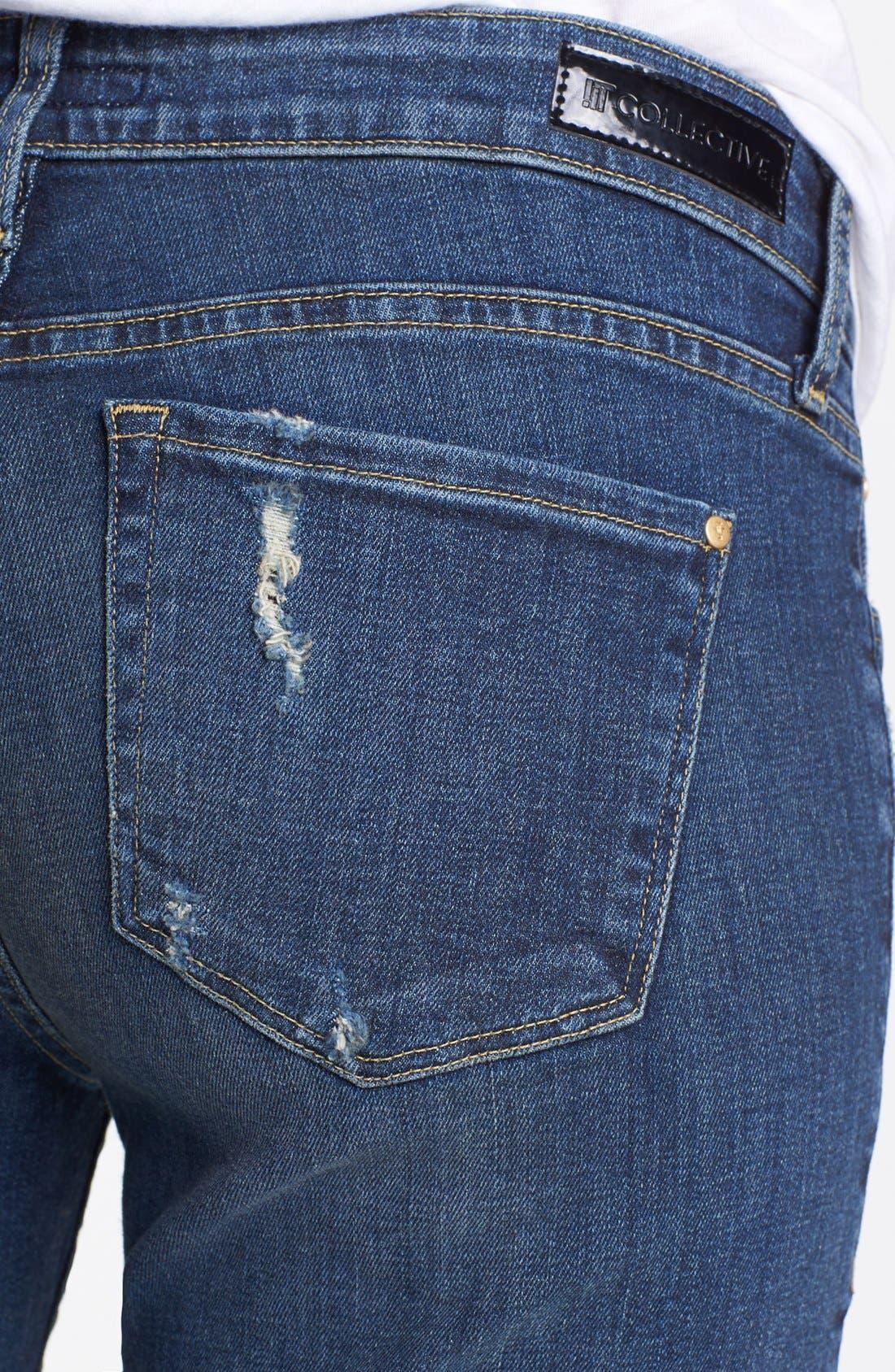 Alternate Image 3  - !iT Collective 'Hepburn' Stretch Boyfriend Jeans (Mac Coy)