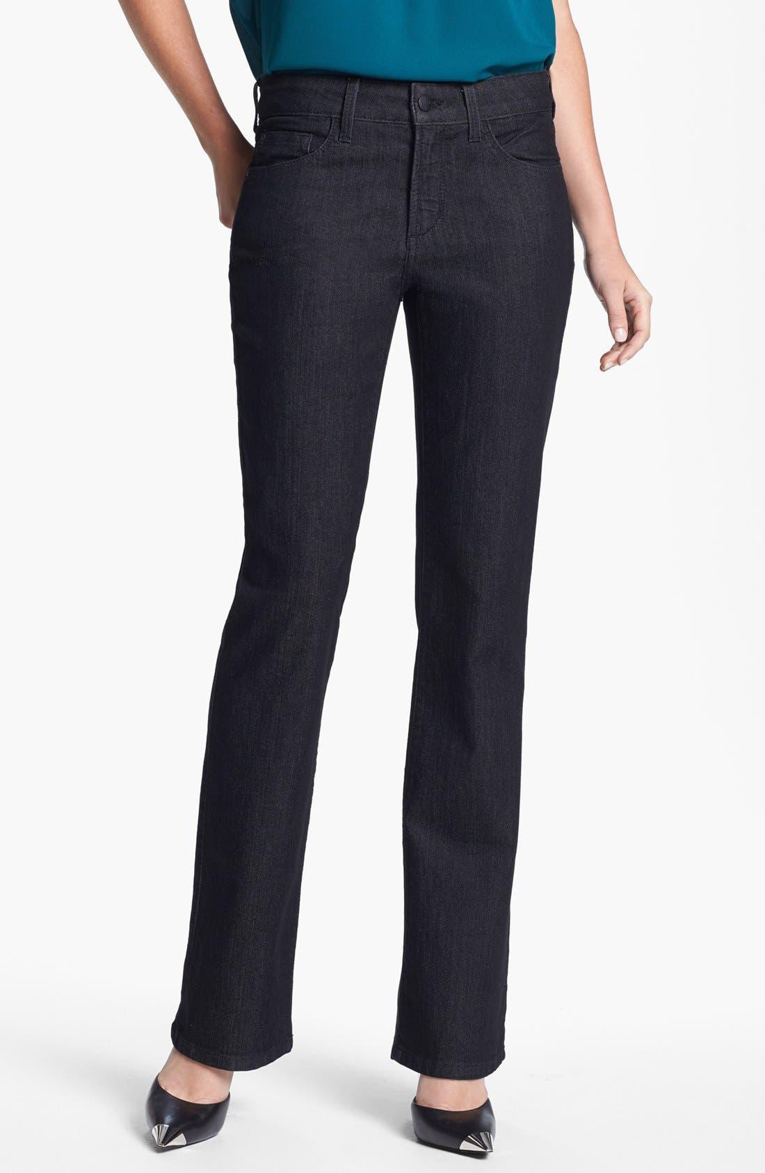 Alternate Image 1 Selected - NYDJ 'Barbara' Embellished Pocket Stretch Bootcut Jeans (Dark Enzyme)