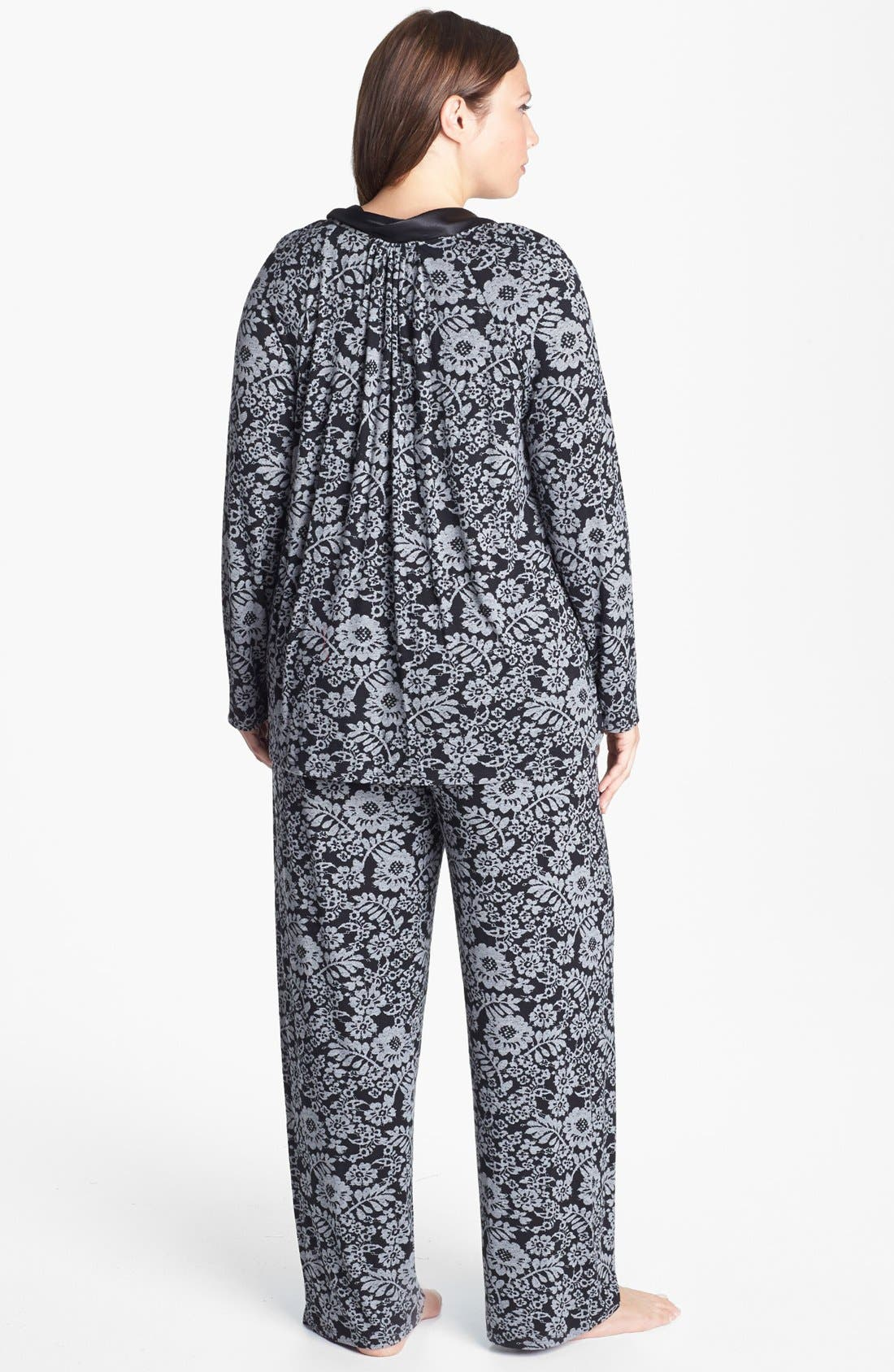 Alternate Image 2  - Midnight by Carole Hochman 'Forever & Always' Pajamas (Plus Size) (Online Only)