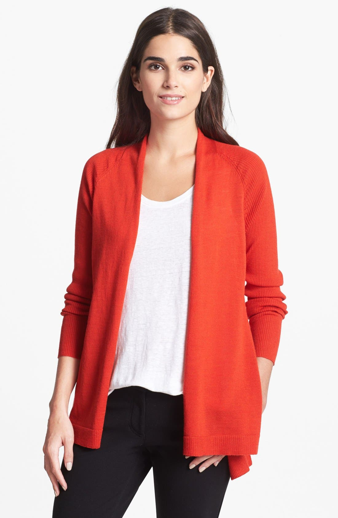 Alternate Image 1 Selected - Eileen Fisher Fine Merino Jersey Cardigan