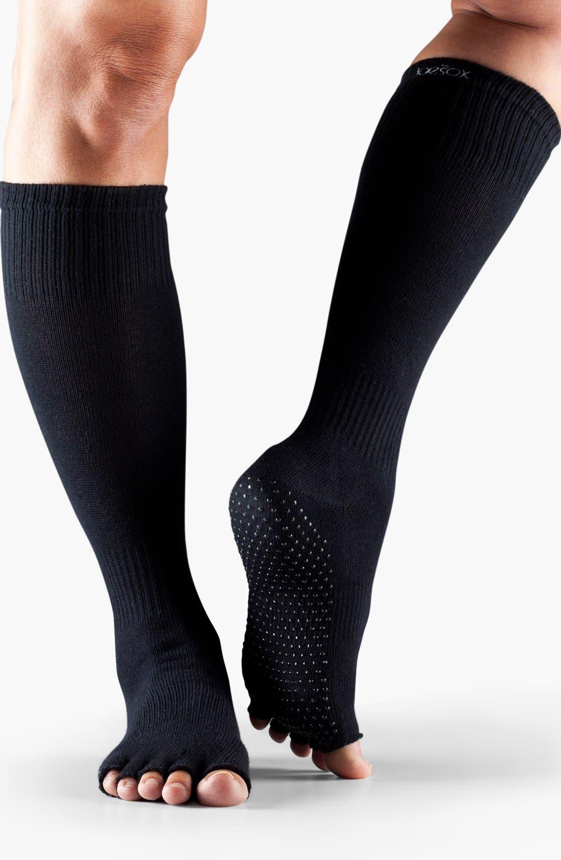Alternate Image 2  - ToeSox Scrunch Knee High Half Toe Socks