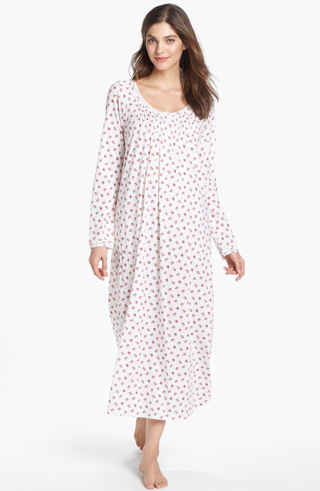 Alternate Image 1 Selected - Carole Hochman Designs 'Rosebud Cherubs' Nightgown