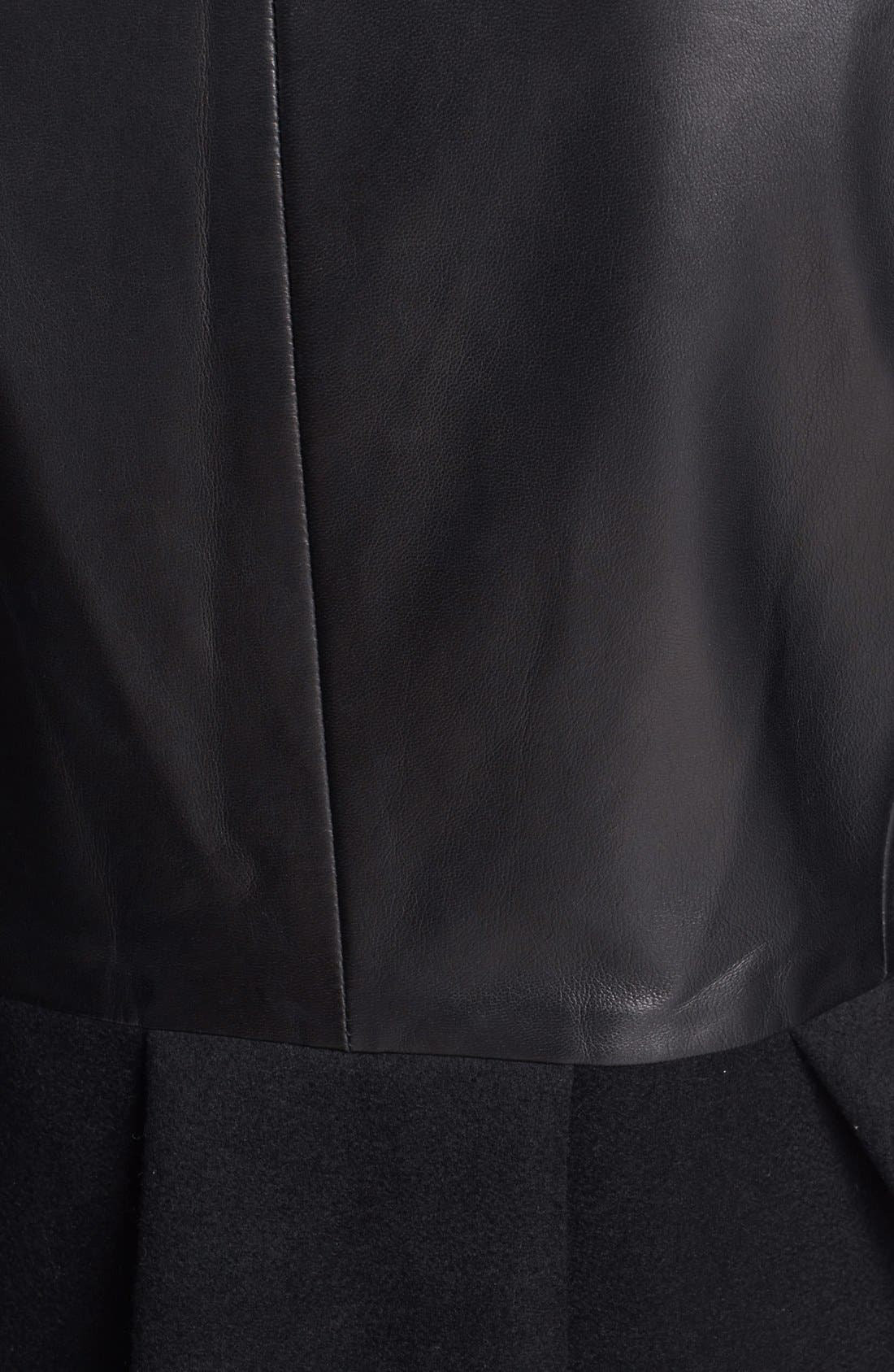 Alternate Image 3  - MARC BY MARC JACOBS 'Kent' Leather & Wool Blend Jacket