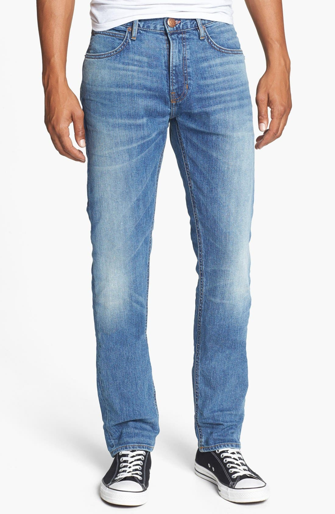 Main Image - Lee 101 USA Lean Straight Leg Jeans (Dry Dust)